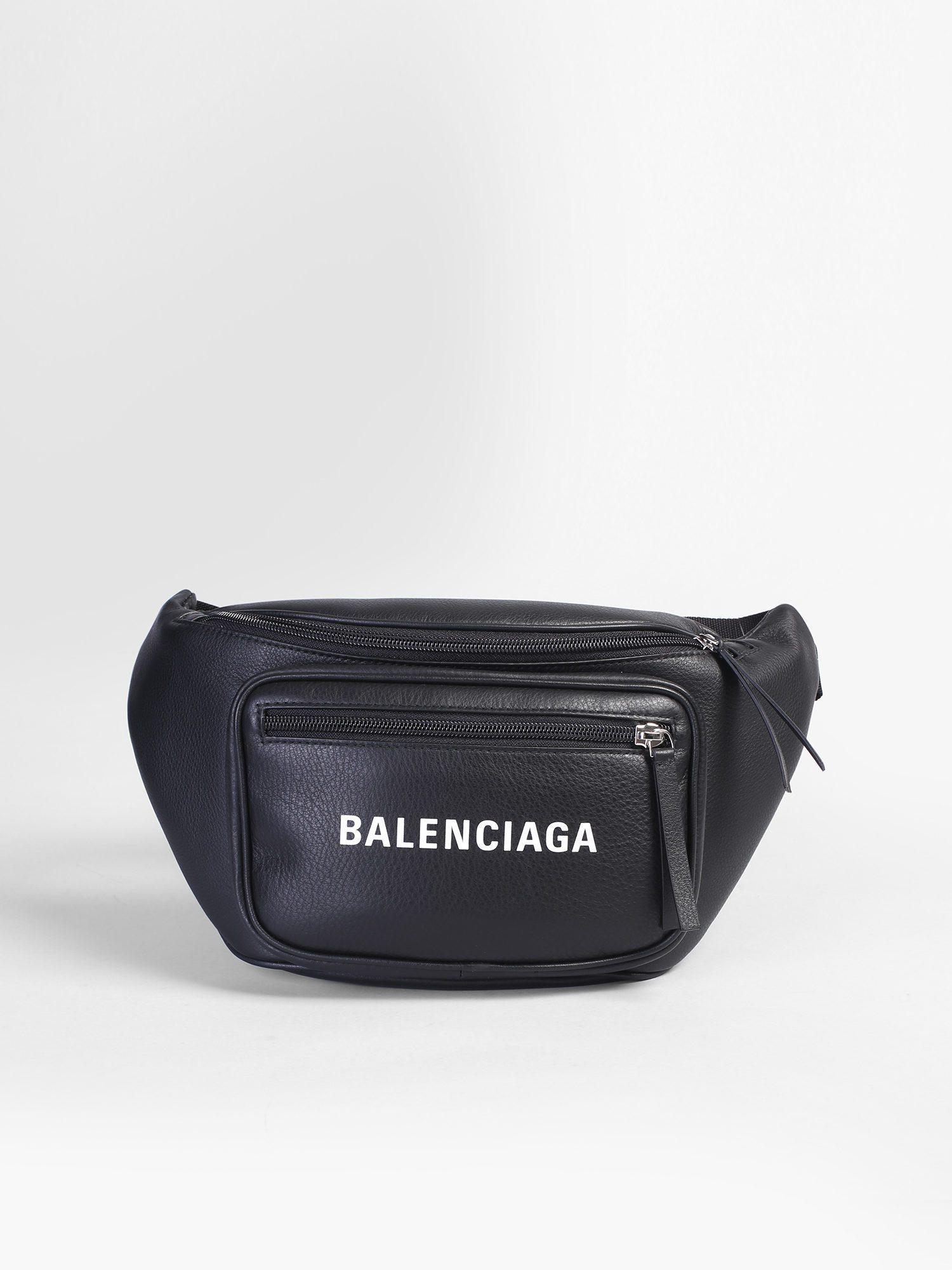 e00837e24e9 Balenciaga Logo Print Leather Belt Pack in Black for Men - Lyst