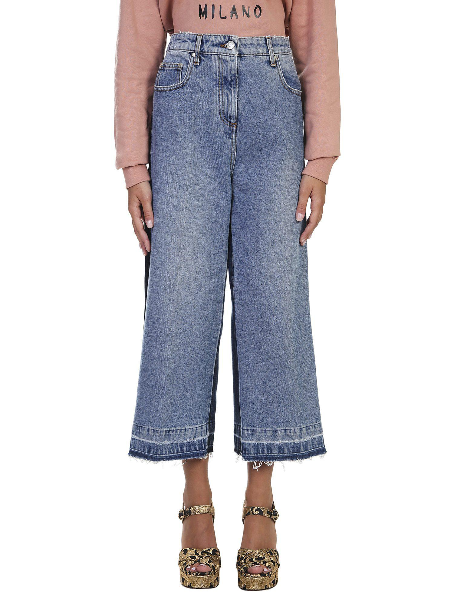 Frayed Wide Leg Cropped Jeans Msgm New Arrival Sale Online Genuine For Sale Discount Eastbay xaIxduf