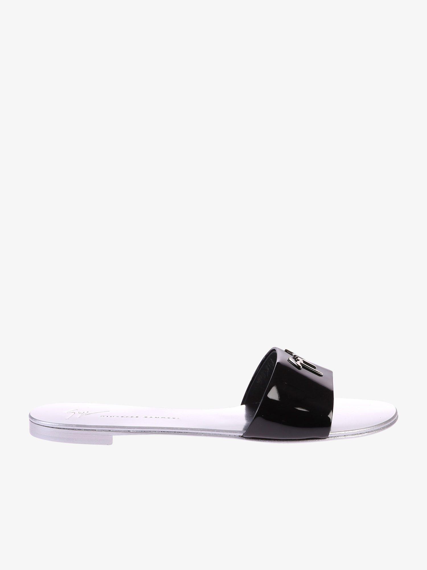 45e11ce99313 Lyst - Giuseppe Zanotti Patent Leather Sandals in Black - Save 30%