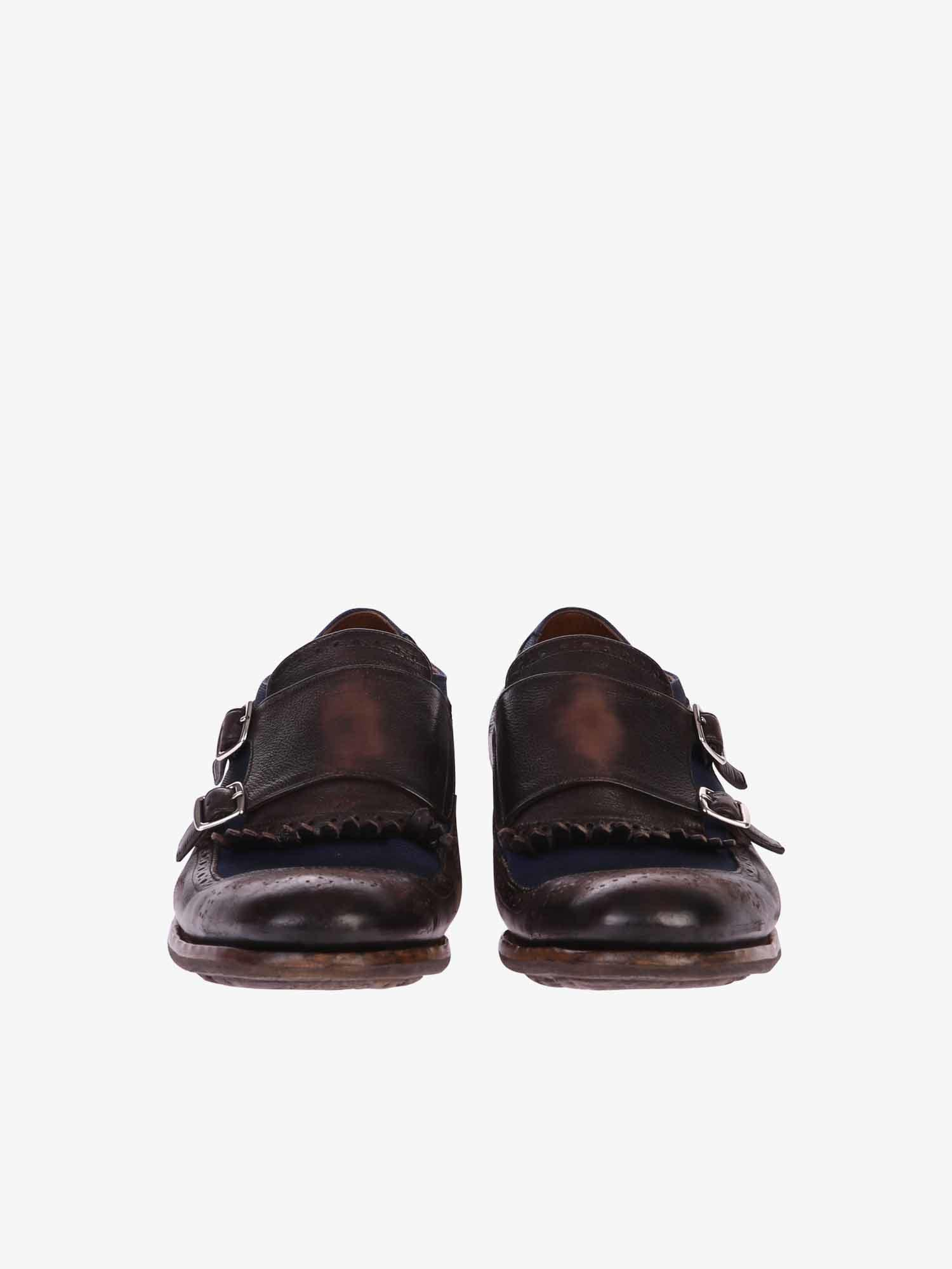 c6c48c468be Lyst - Church s Shanghai Leather And Fabric Shoes for Men