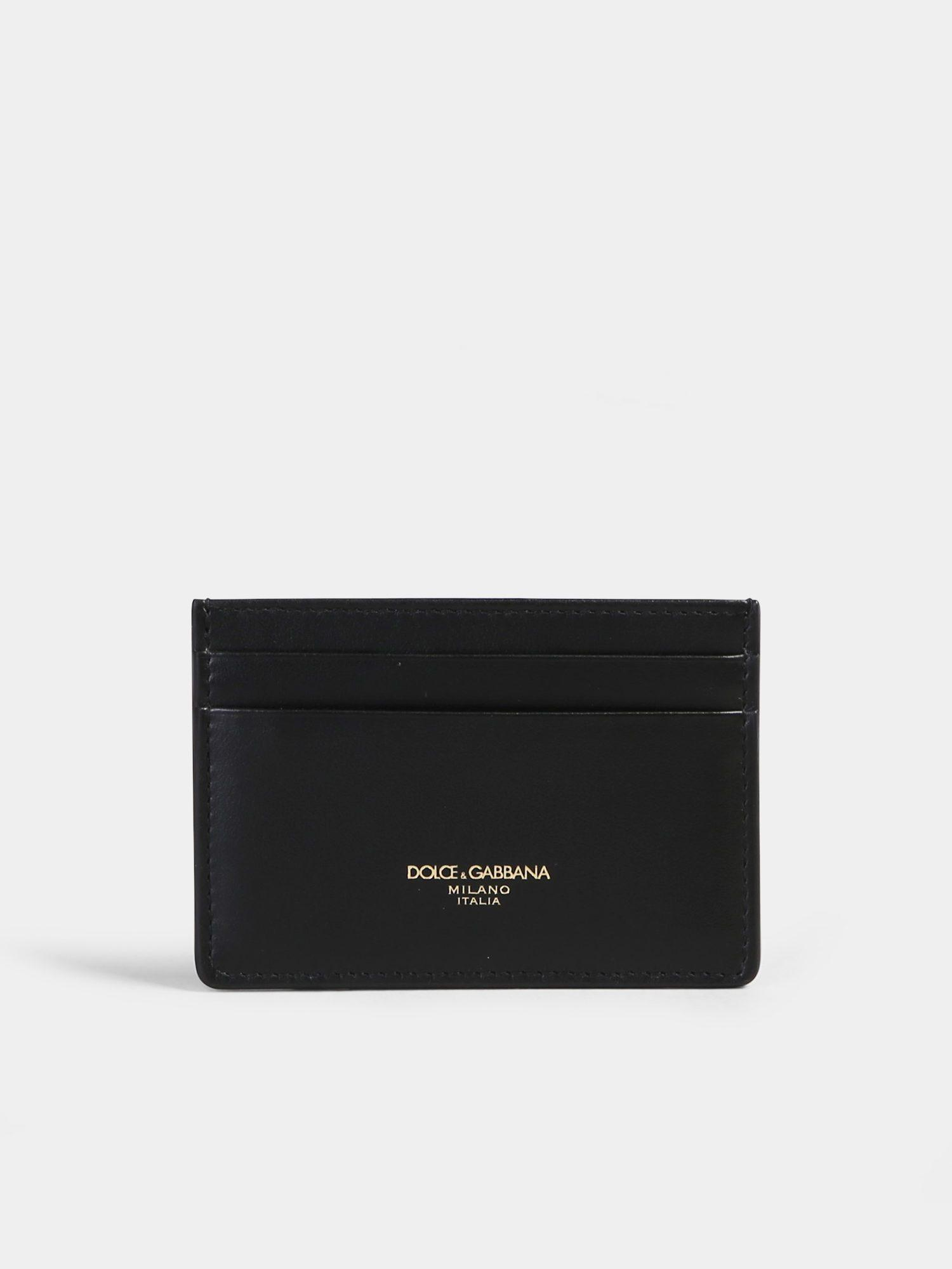 b5cb2a8e79 Lyst - Dolce & Gabbana Leather Card Holder in Black for Men