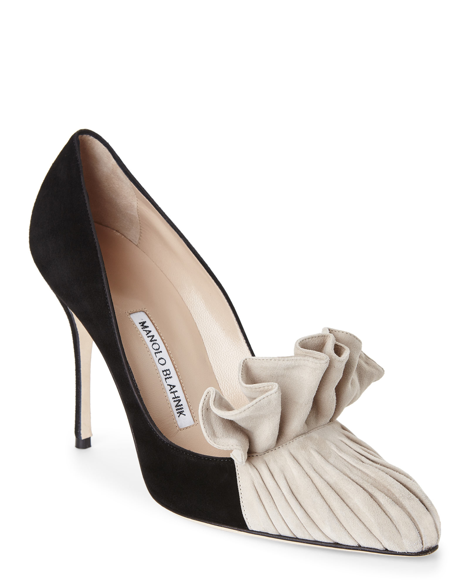 c44c0964195 Lyst - Manolo Blahnik Black   Beige Arleti Pumps in Black