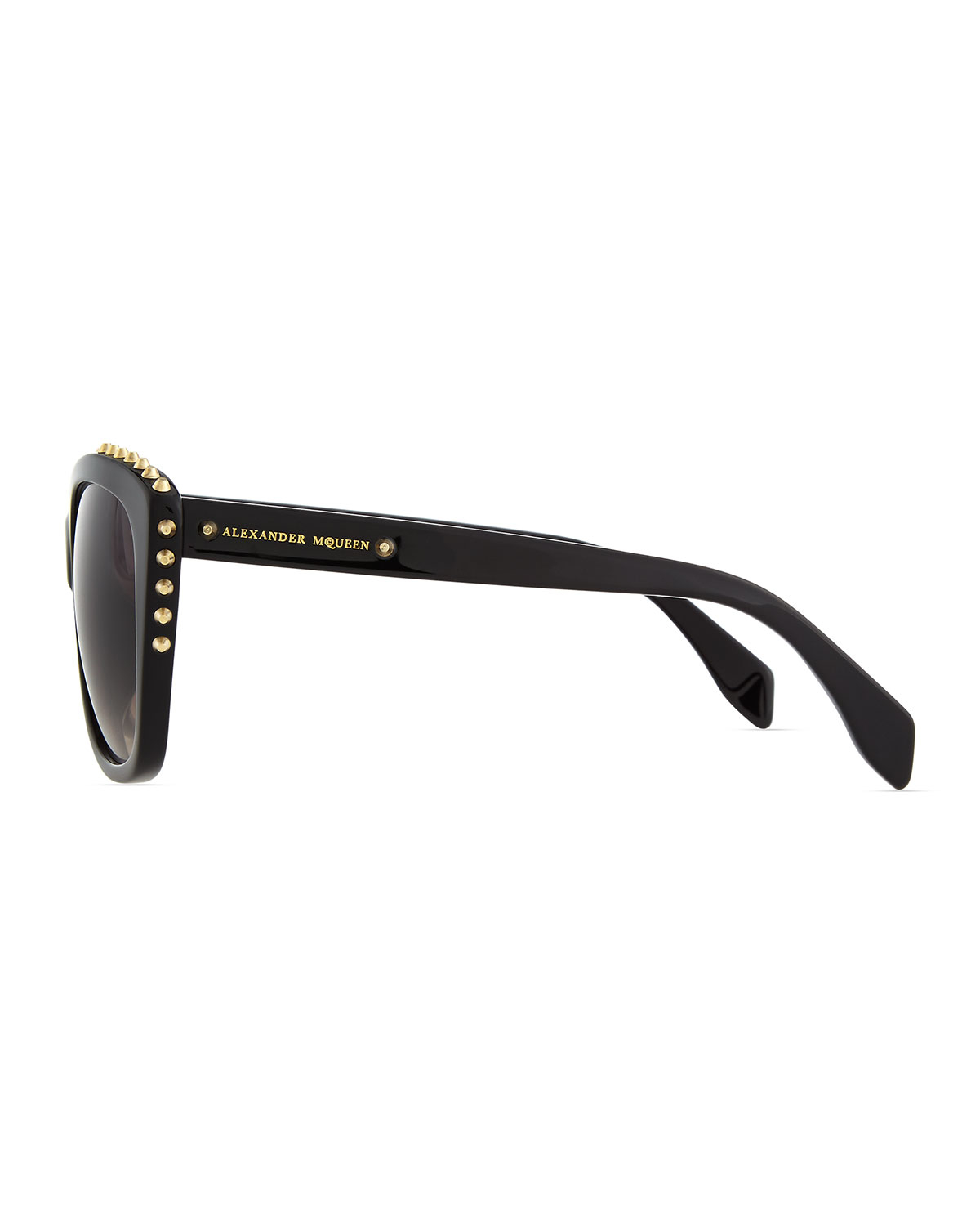 Mens Alexander Mcqueen Sunglasses  alexander mcqueen studded squared cat eye sunglasses in black for
