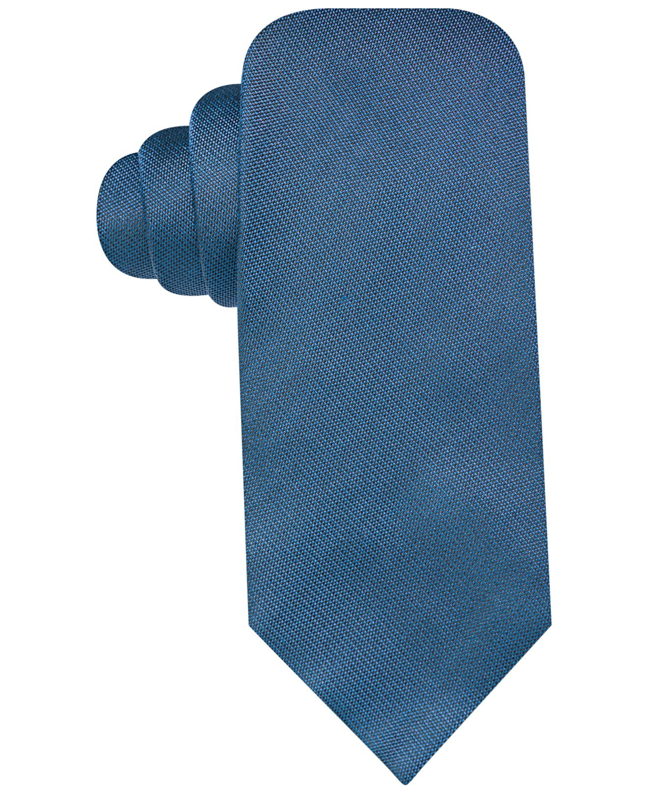 vince camuto solid slim tie in blue for lyst