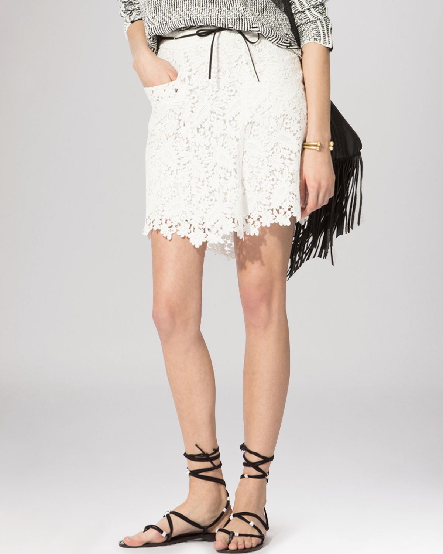 131faad155 Maje Skirt - Joelle Lace in White - Lyst