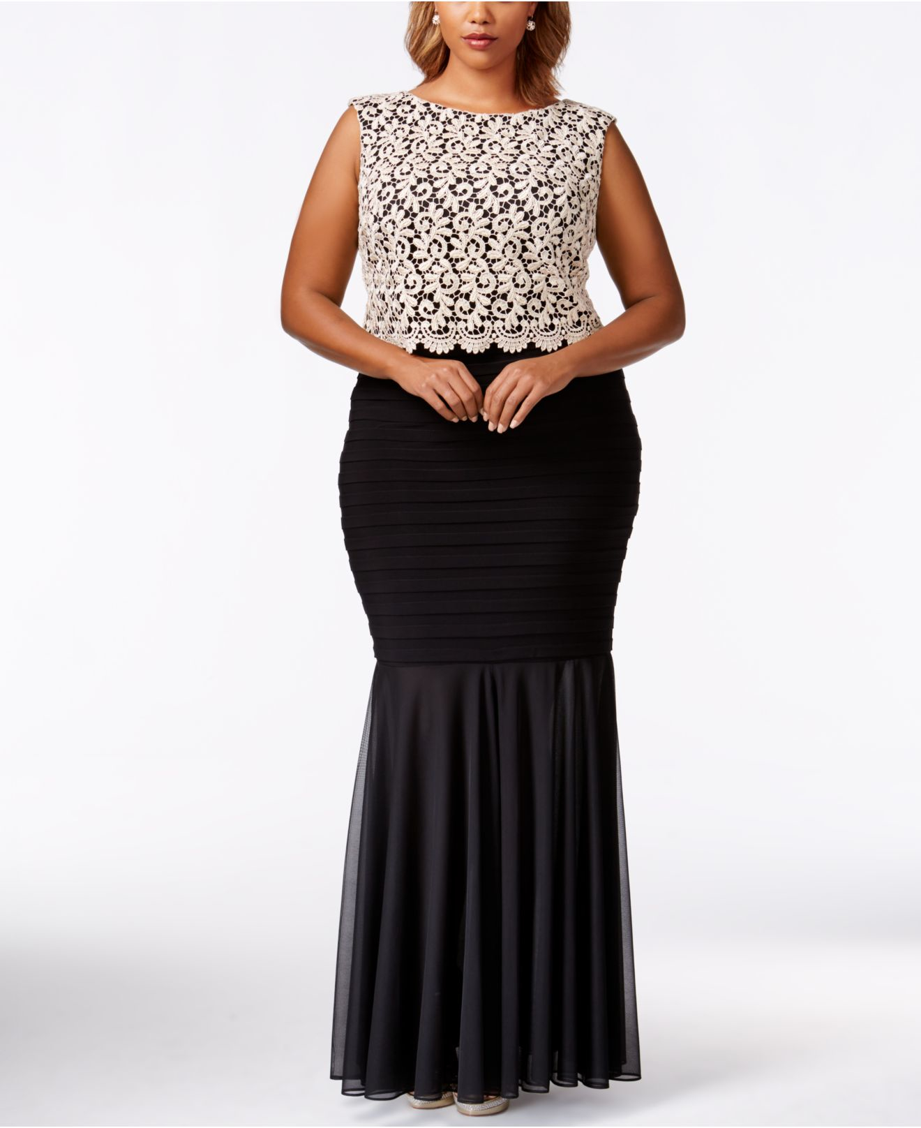 Betsy and Adam Plus Size Evening Dresses