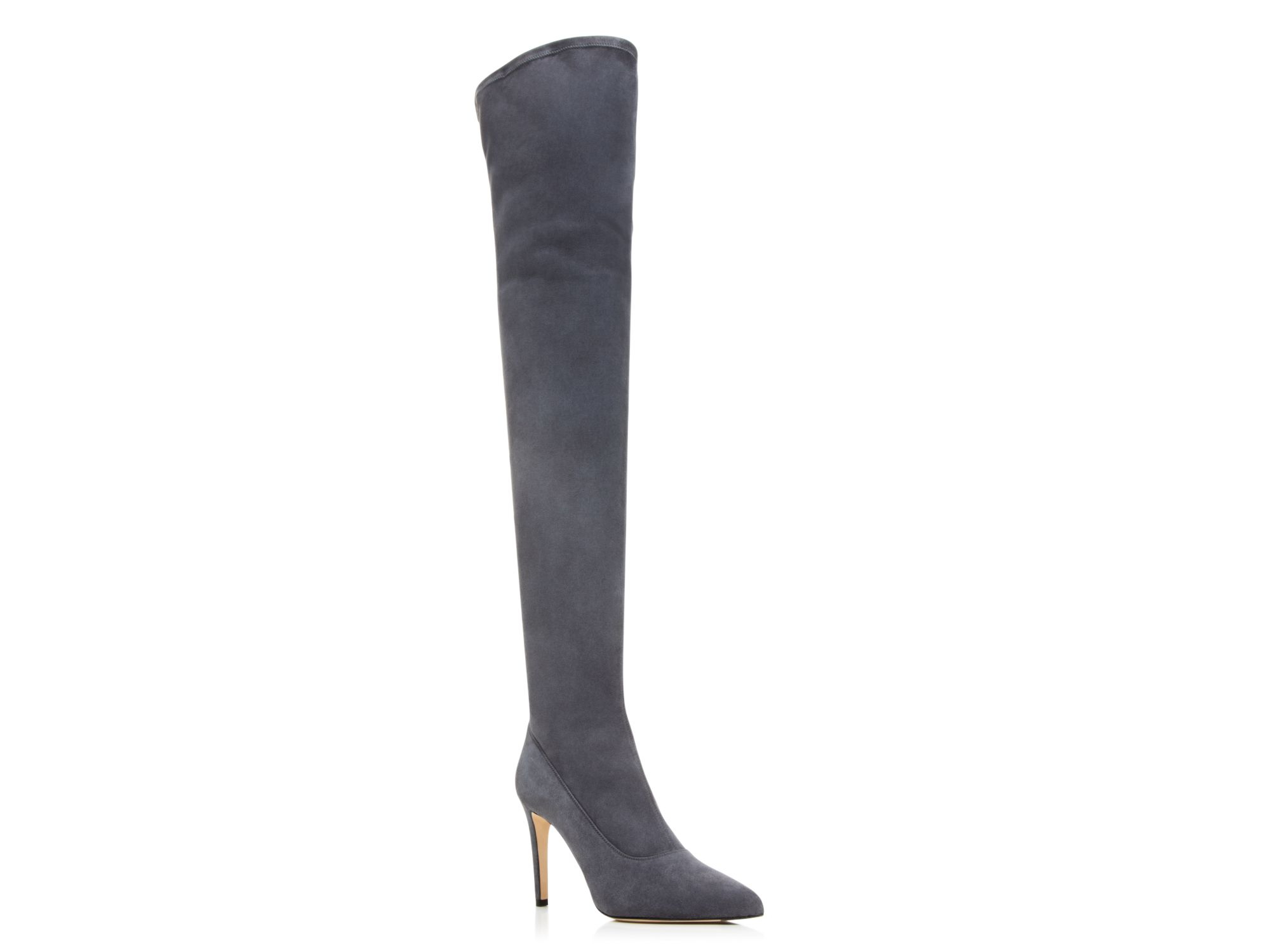 Sergio rossi Matrix Over The Knee Boots in Gray