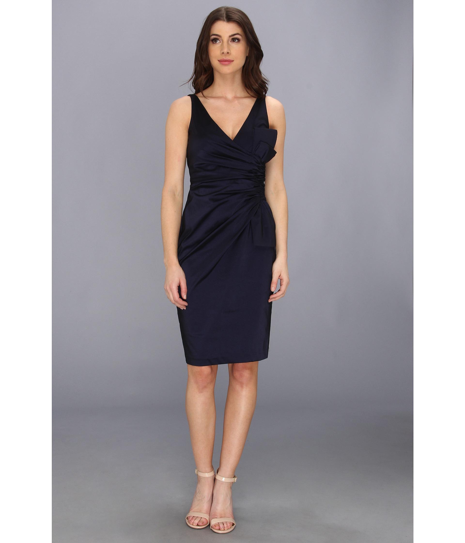 Stretch taffeta long dress