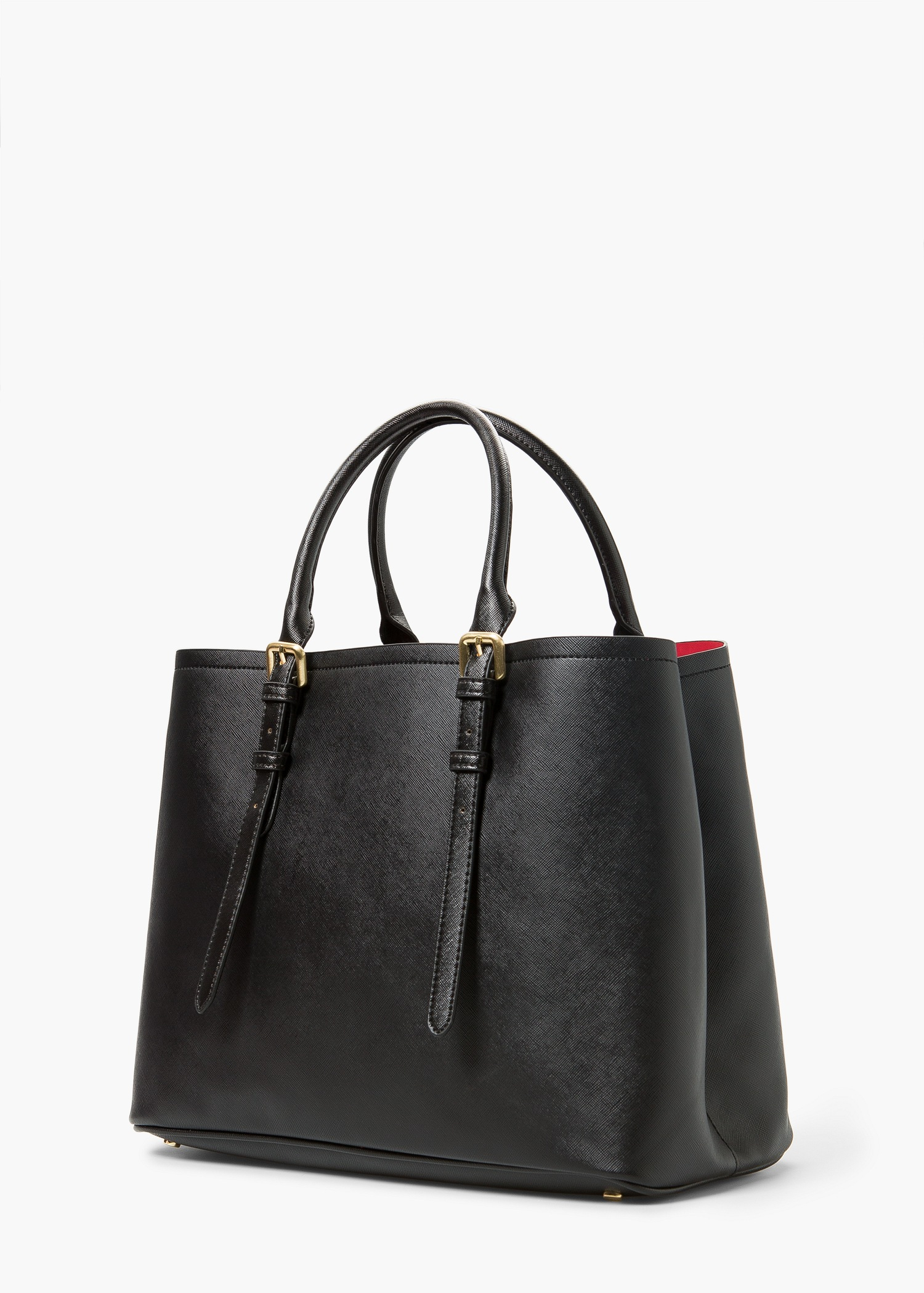 Lyst Mango Adjustable Tote Bag In Black
