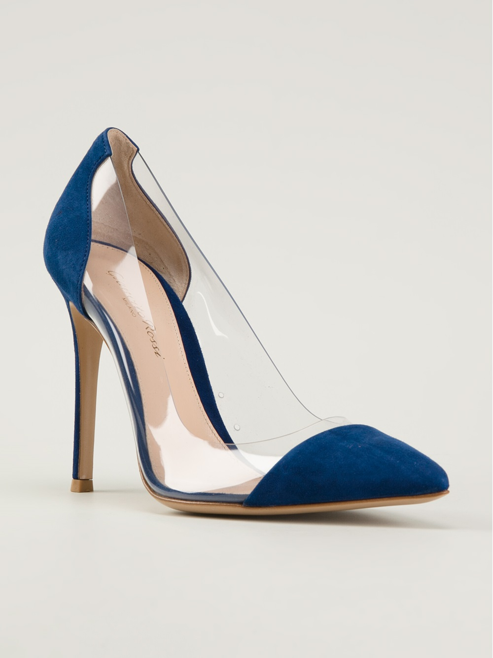 wrap strap pointed pumps - Blue Gianvito Rossi QpaXj