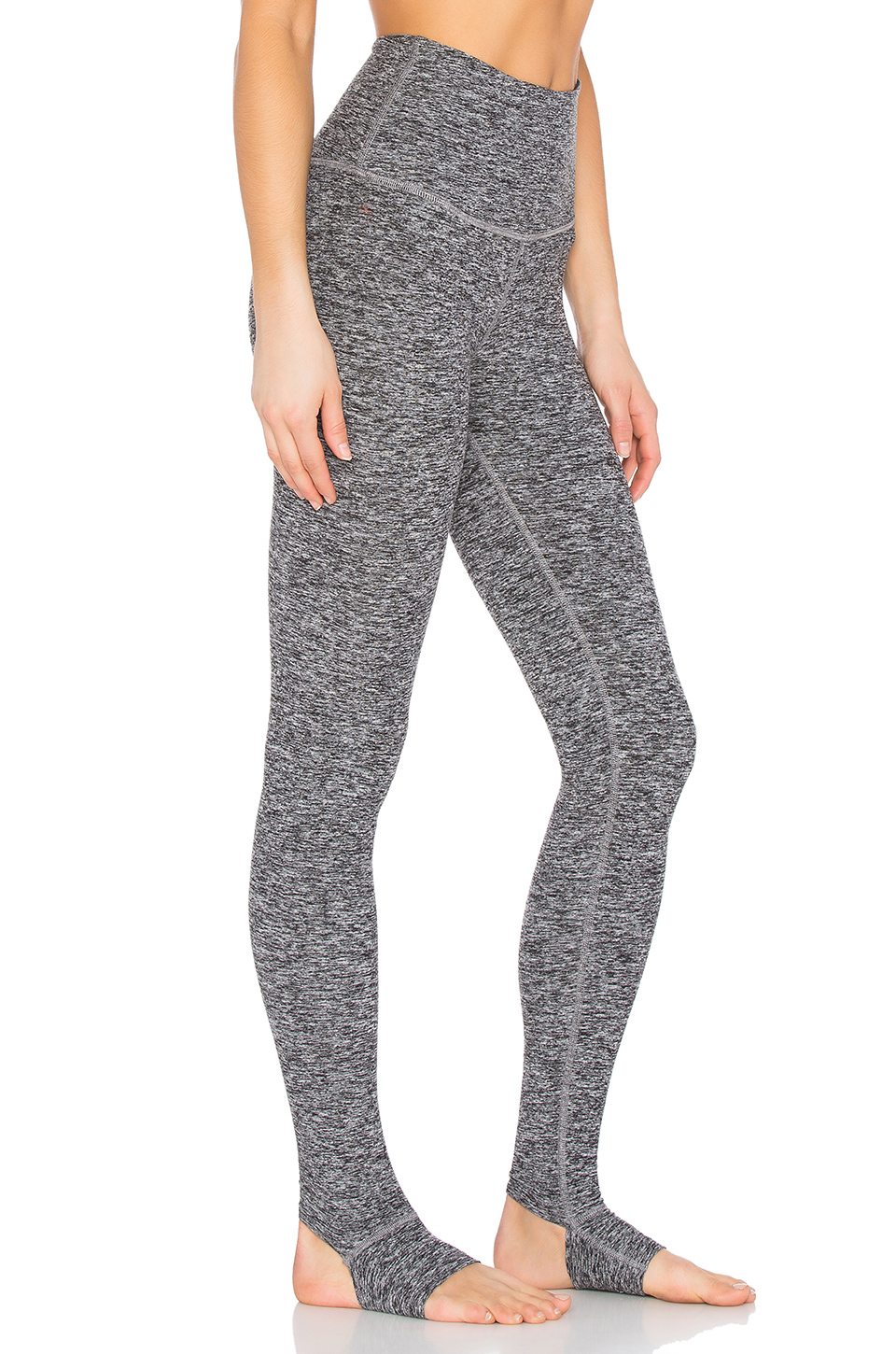 e40e4077a8c439 Beyond Yoga Spacedye High Waist Stirrup Legging in Black - Lyst