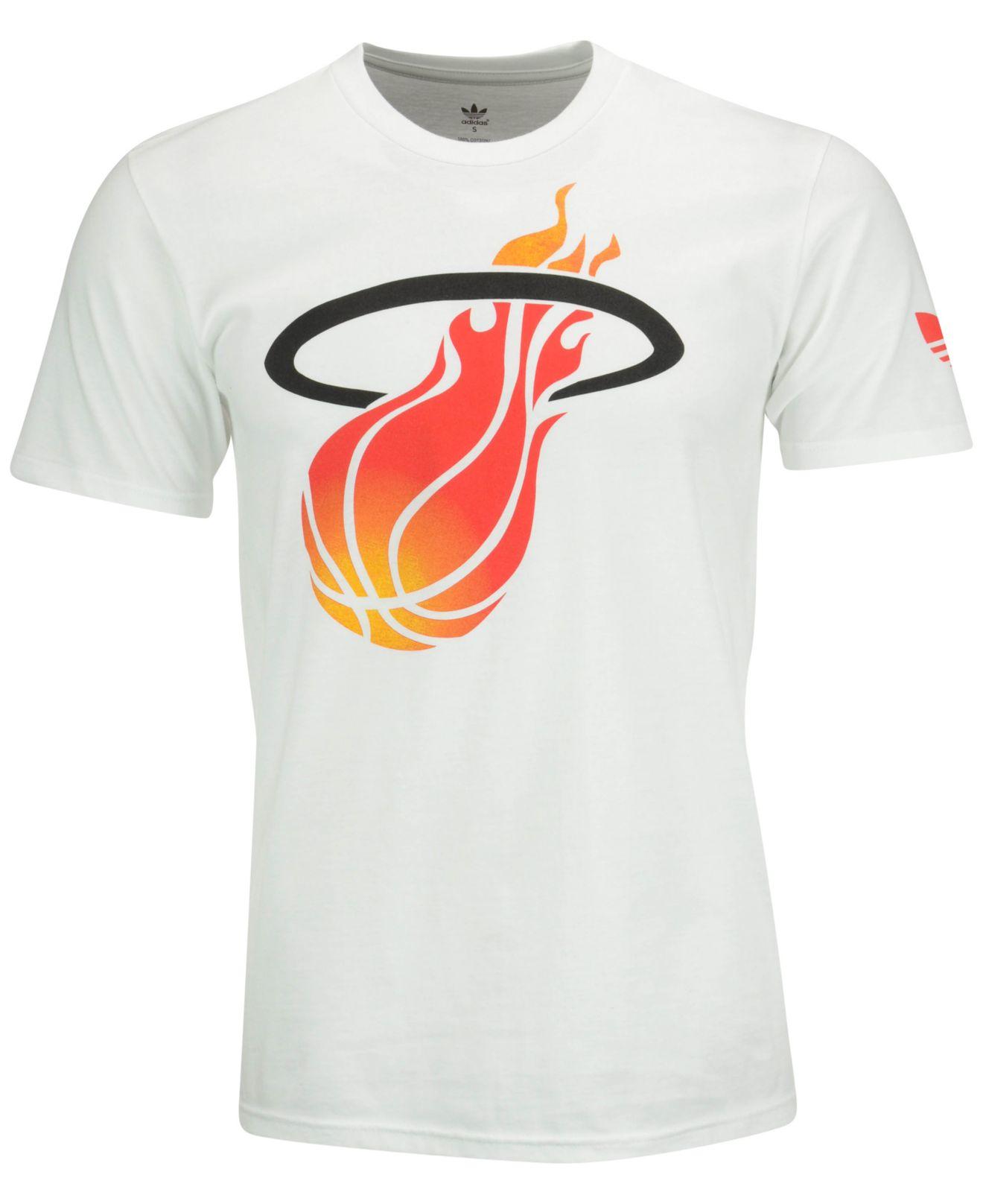 93858106e58 Lyst - adidas Originals Men s Miami Heat Big And Clean T-shirt in ...
