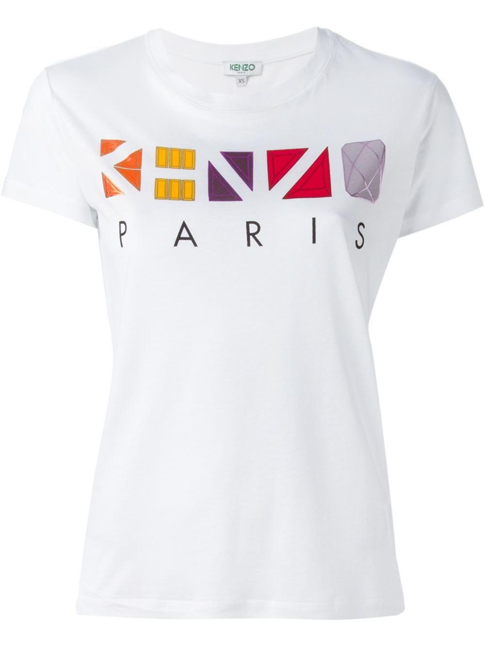 kenzo paris t shirt in white lyst. Black Bedroom Furniture Sets. Home Design Ideas