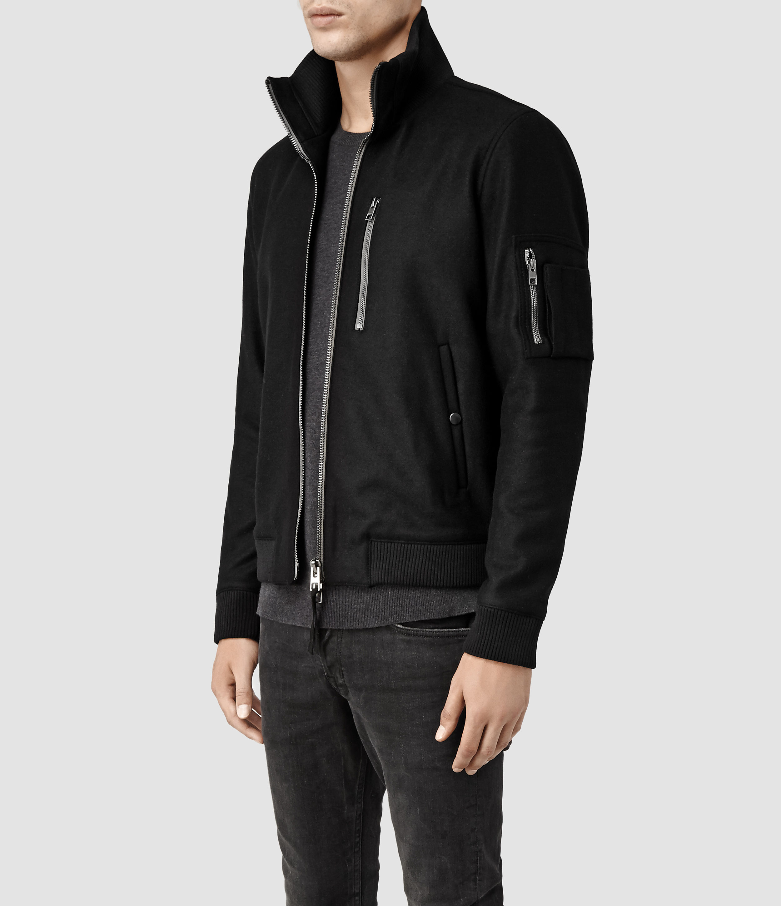 All saints black bomber jacket – Your jacket photo blog