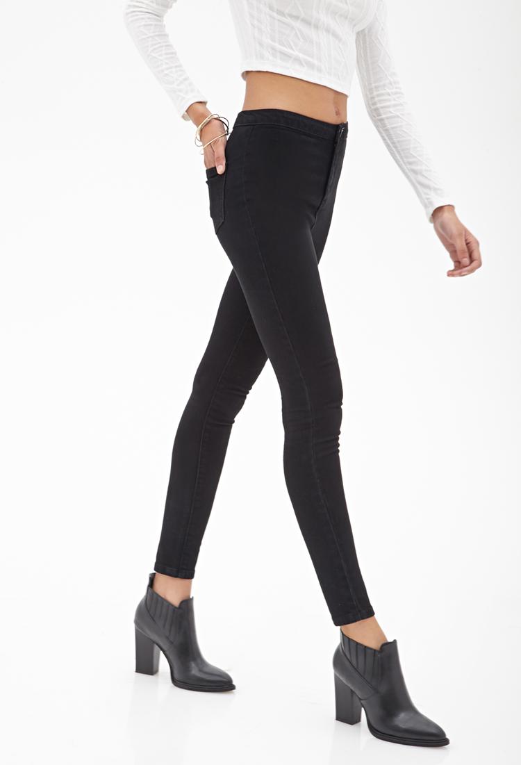 High waisted black skinny jeans forever 21
