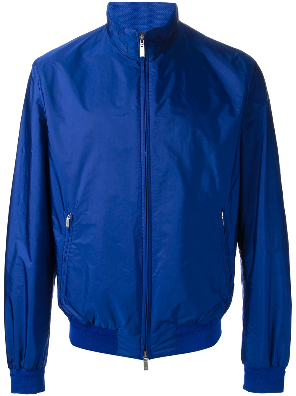 Lyst Canali Funnel Neck Bomber Jacket In Blue For Men