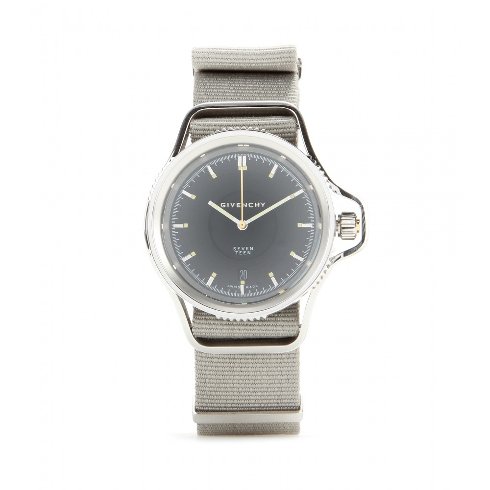 Givenchy seventeen stainless steel watch in gray lyst for Givenchy watches