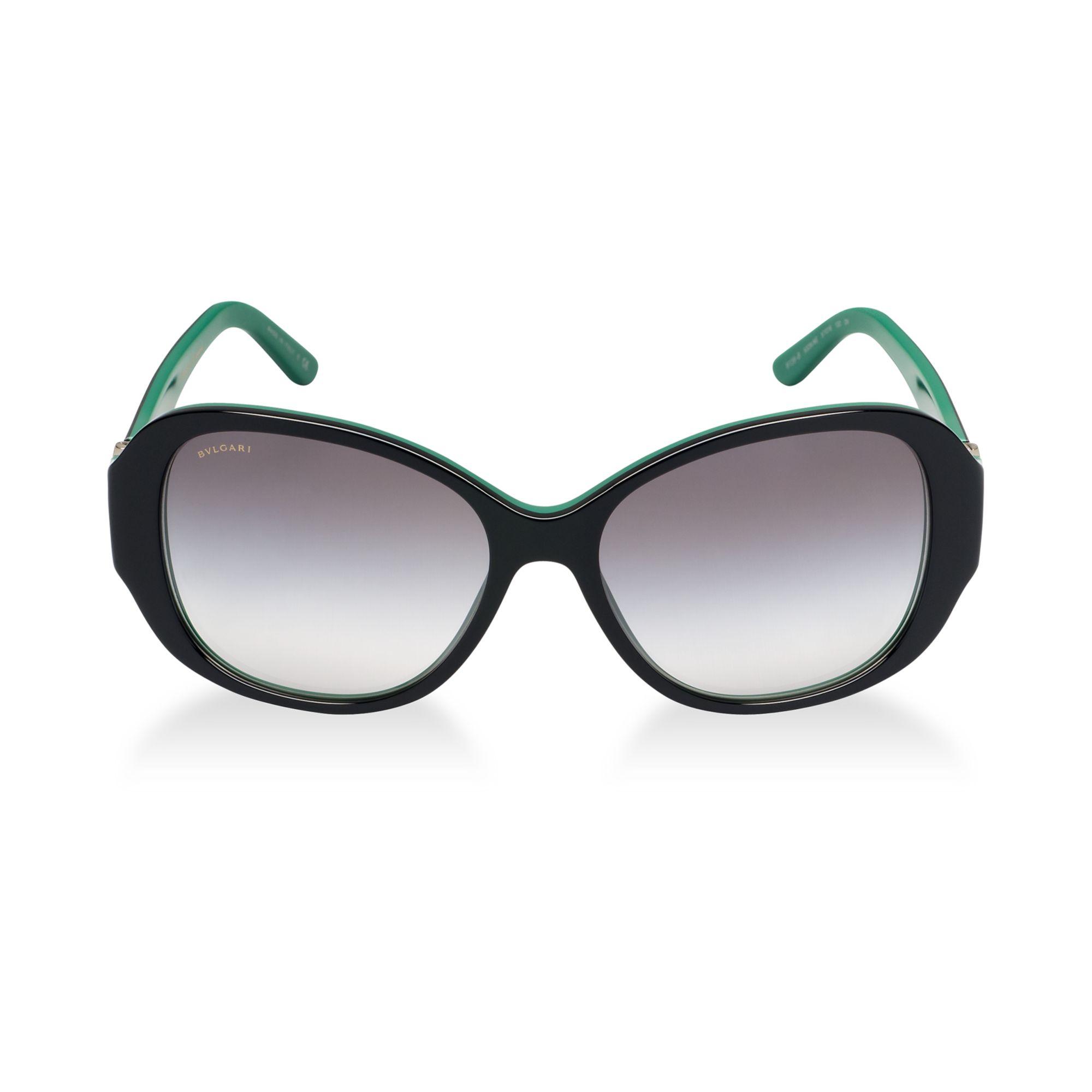 bvlgari sunglasses 57 in green lyst