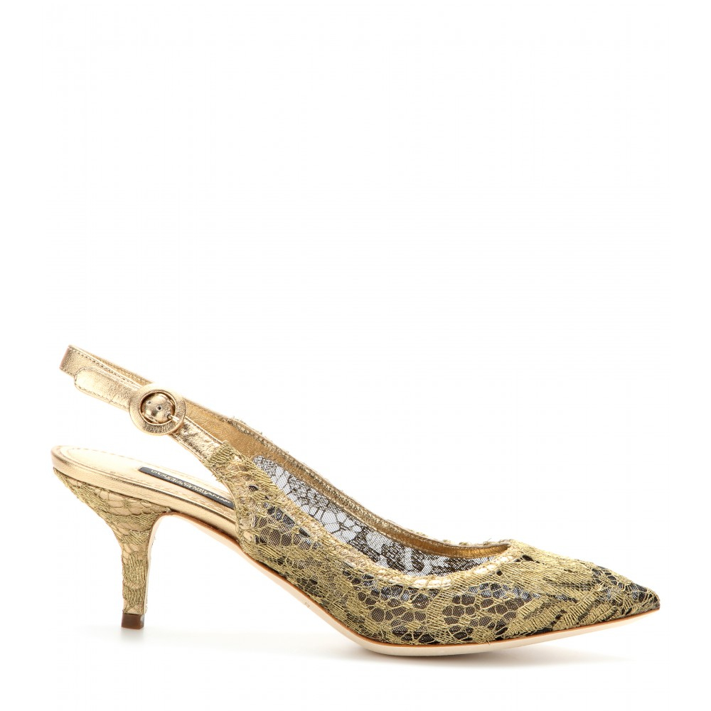Dolce & Gabbana Metallic Slingback Pumps discount get authentic zPFJpcVu