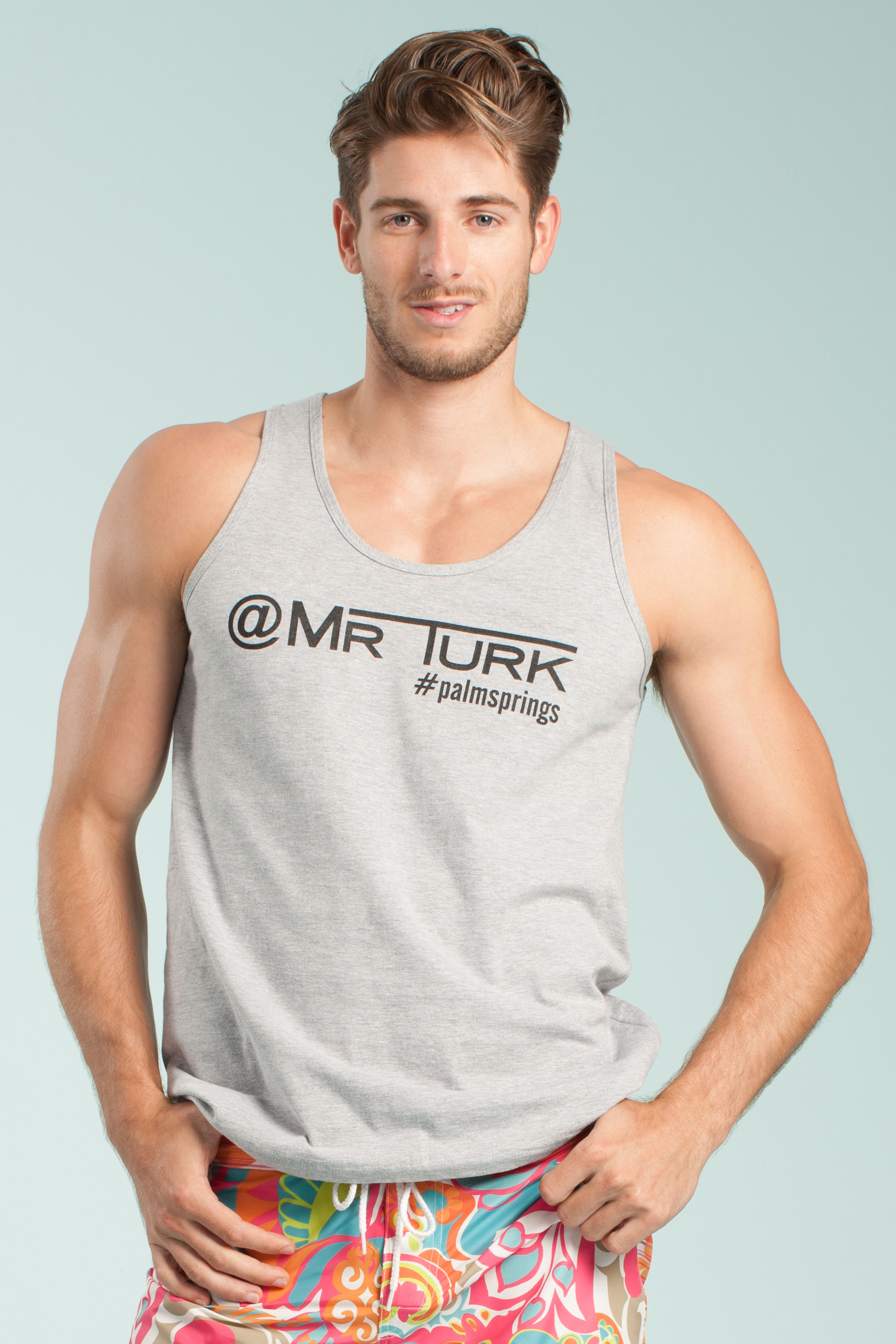 Trina Turk Social Tank In Gray For Men Lyst