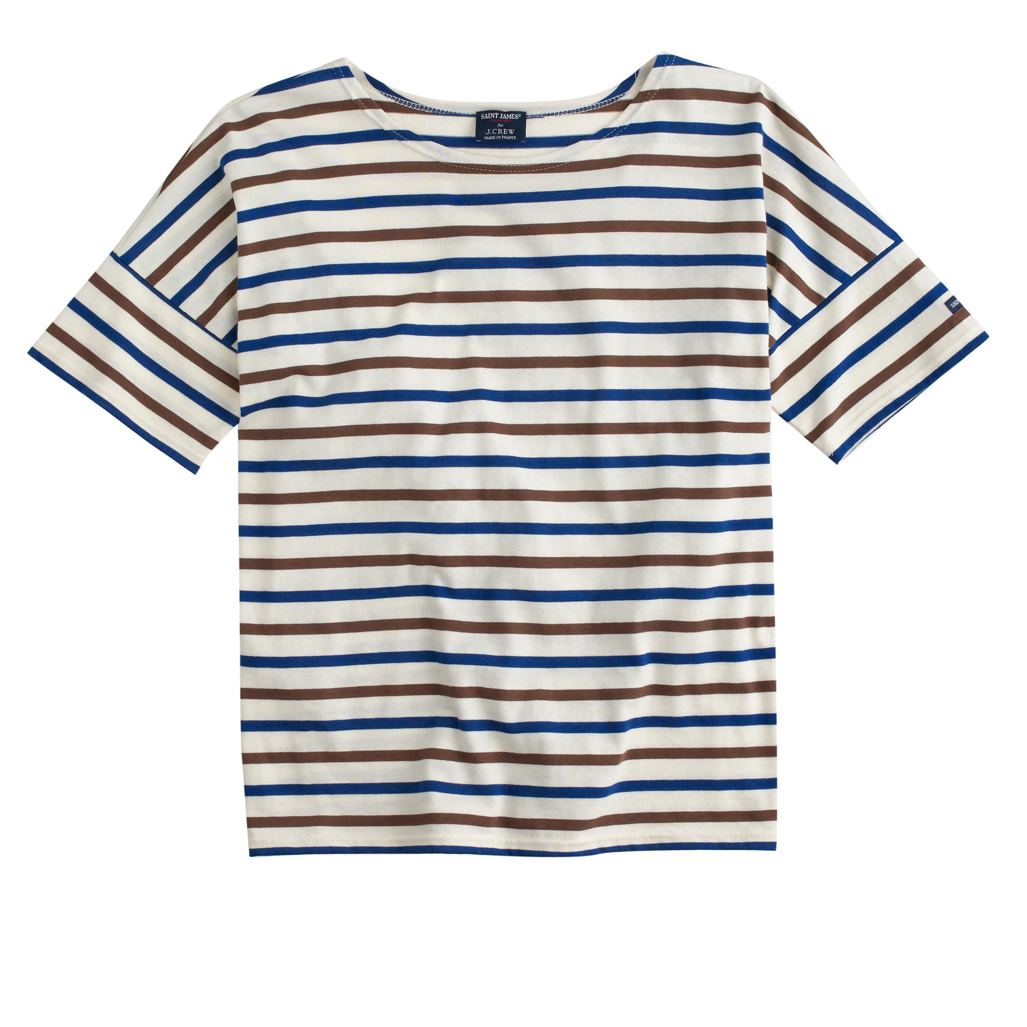 lyst j crew saint james short sleeve slouchy t shirt in blue