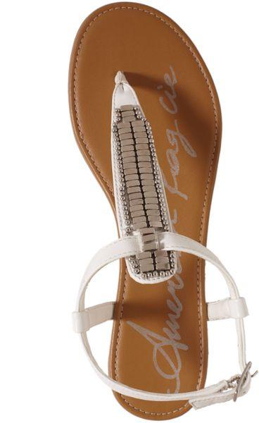 american rag sari flat sandals in white lyst