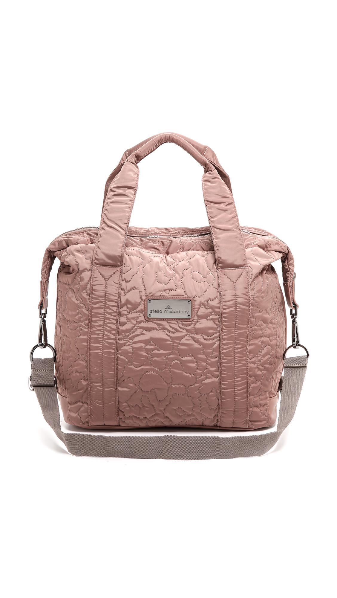 Lyst - adidas By Stella McCartney Small Gym Bag - Tan in Pink d002e711b6