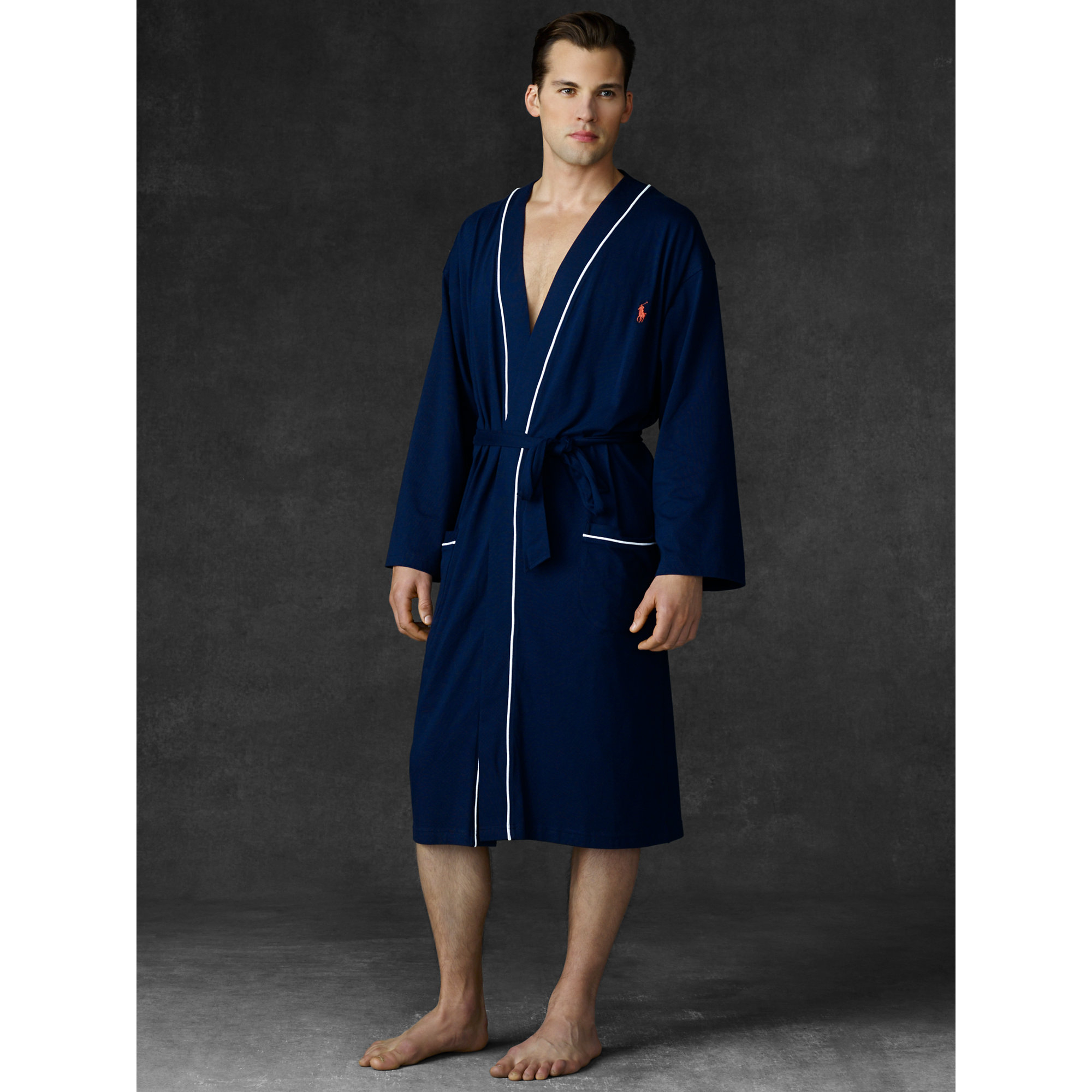 lyst polo ralph lauren kimono robe in blue for men. Black Bedroom Furniture Sets. Home Design Ideas