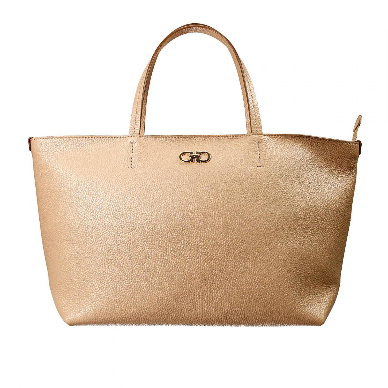 Lyst - Ferragamo Handbag Bag Bice Shopping With Zip in Natural 0e6490dd0dc3a