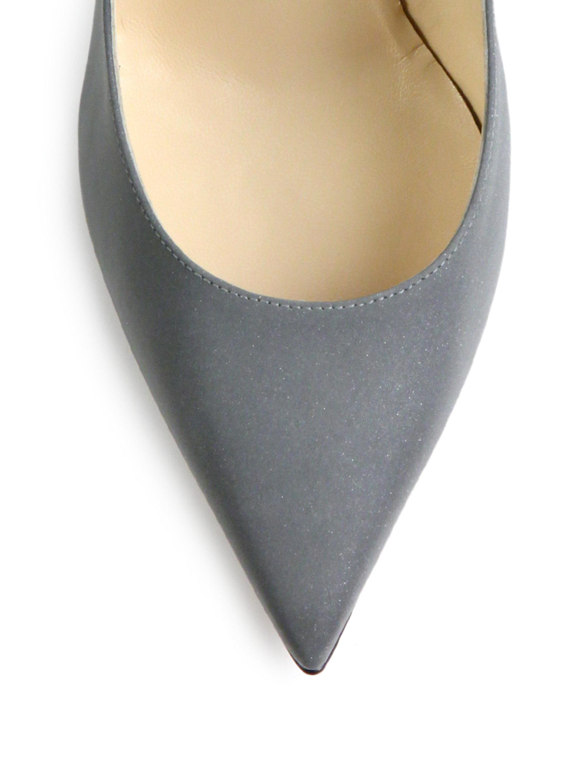 b16bb7f39b1 Lyst - Jimmy Choo Anouk Fabric Point-toe Pumps in Gray