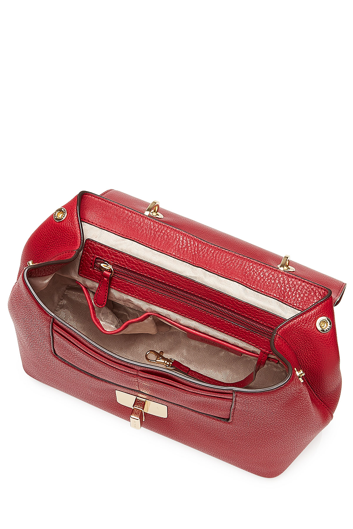 e8840701af0ad3 MICHAEL Michael Kors Emery Medium Leather Shoulder Bag - Red in Red ...
