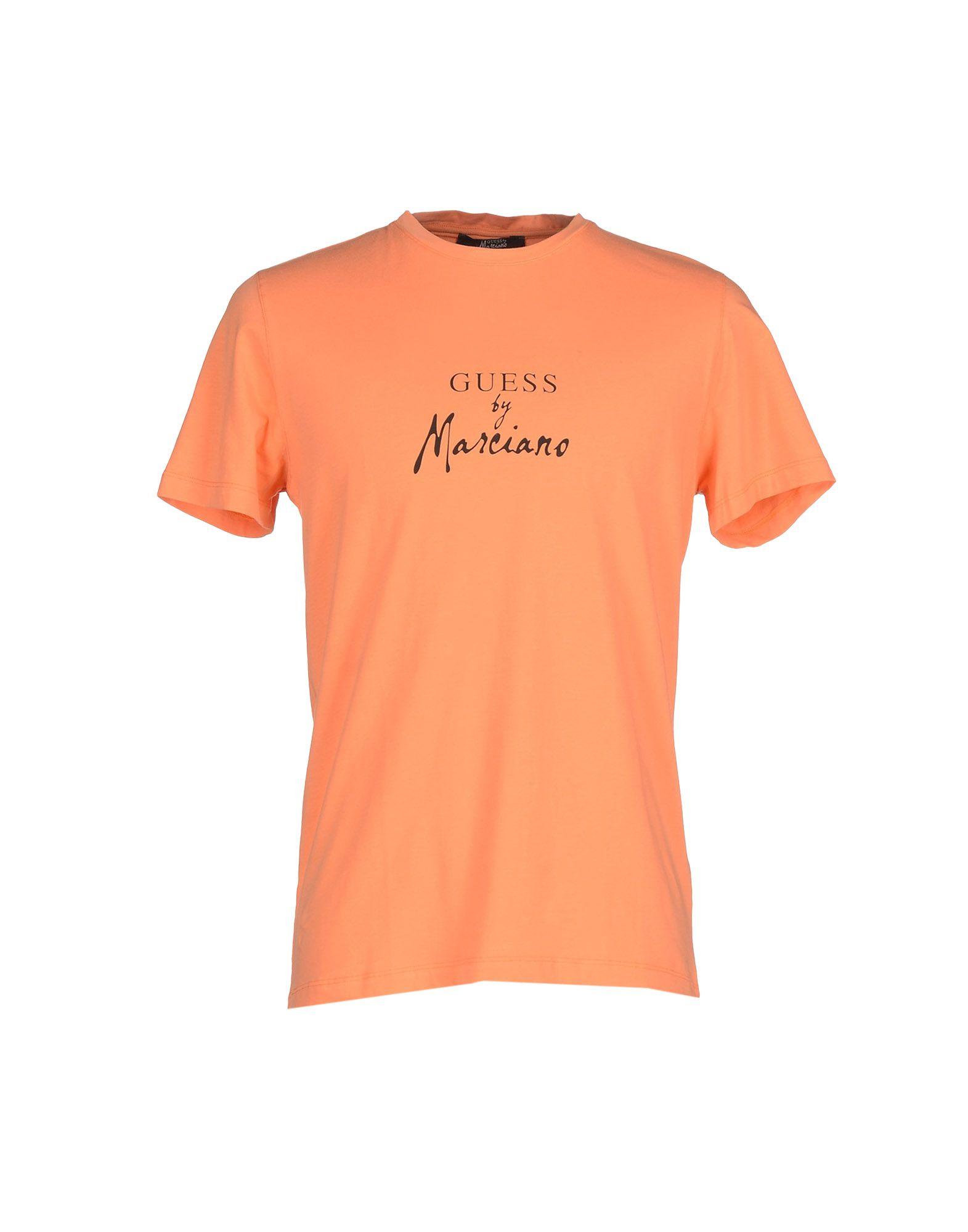 lyst guess t shirt in orange for men. Black Bedroom Furniture Sets. Home Design Ideas