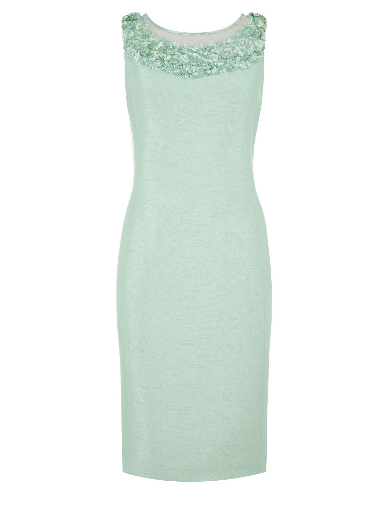 Lyst - Jacques Vert Flower Embellished Shift Dress in Green