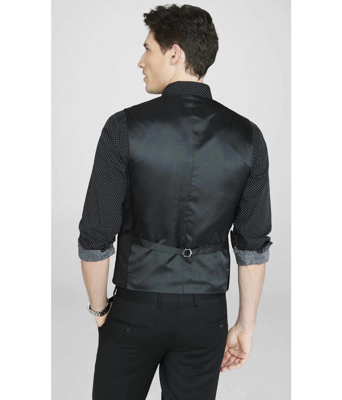 Lyst Express Velvet Suit Vest In Black For Men