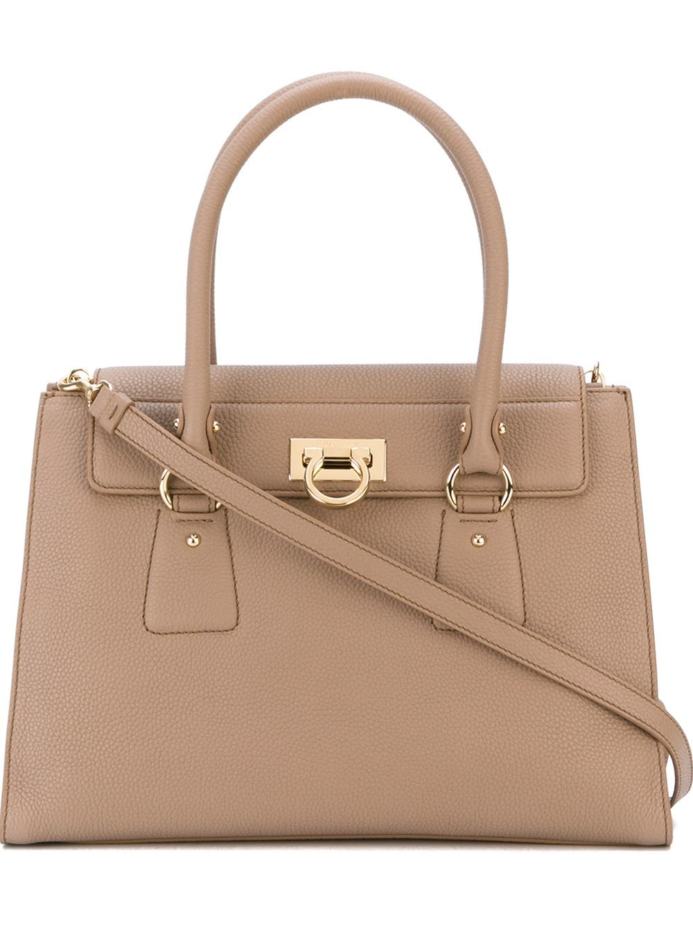 3d5ec9f7ba1 Lyst - Ferragamo Lotty Bag in Natural
