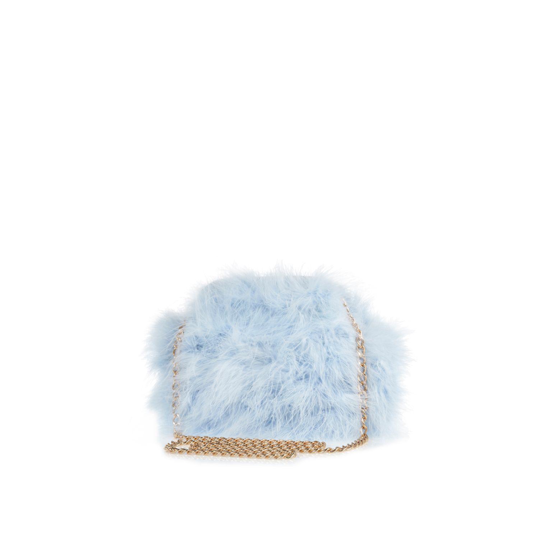 6bb876f59e River Island Blue Fluffy Cross Body Bag in Blue - Lyst