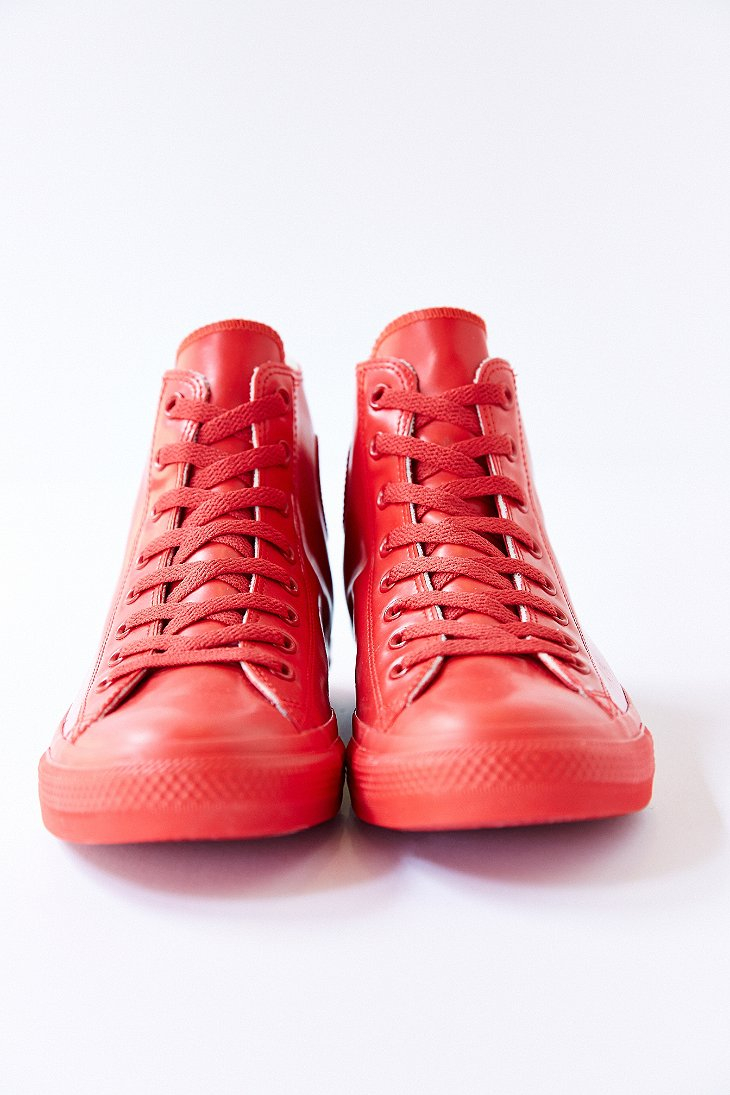 Converse Chuck Taylor All Star Rubber High Top Sneakerboot In Red