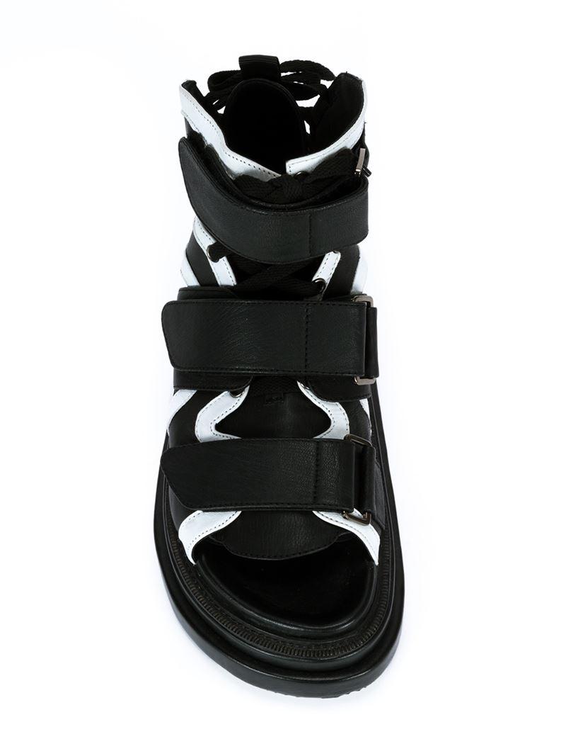 Puma black velcro sandals - Gallery