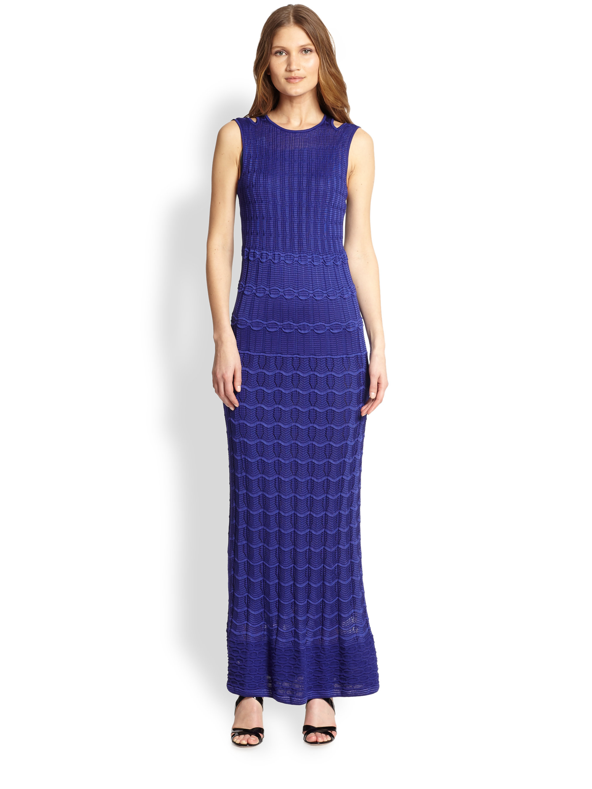 M missoni Textured Knit Maxi Dress in Purple  Lyst