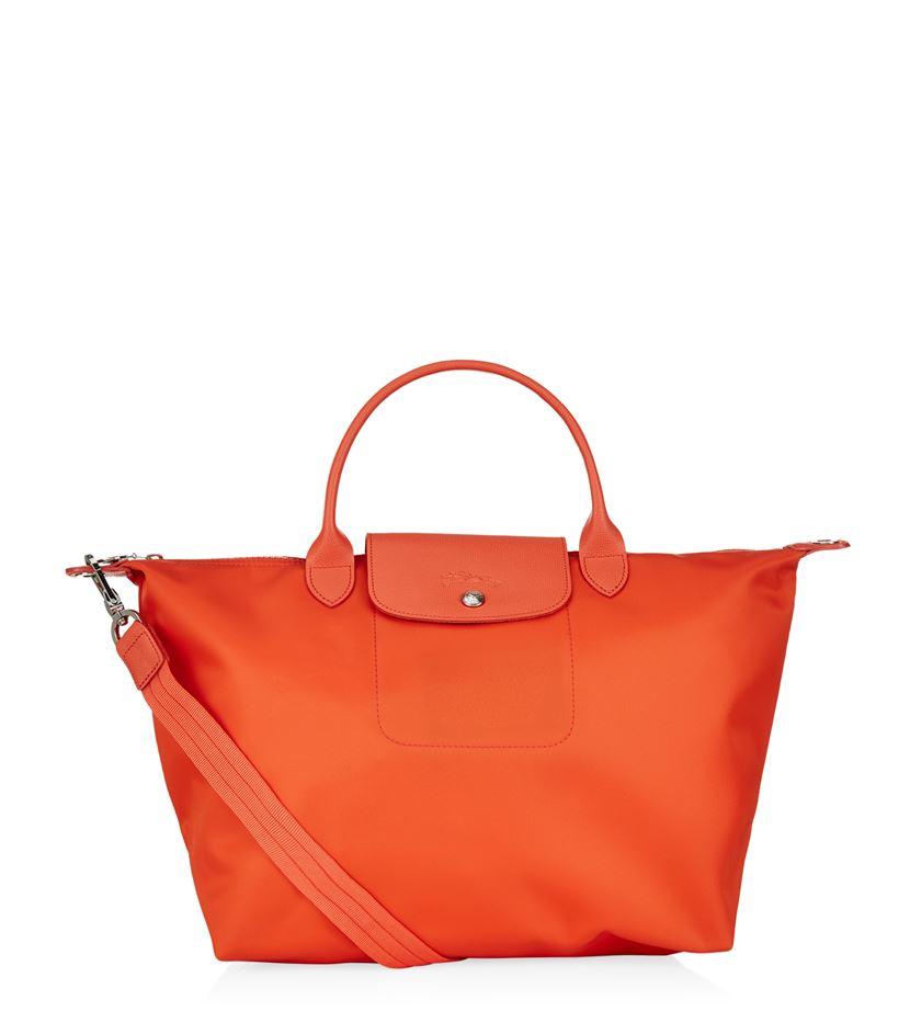 Longchamp Laukut Tori : Longchamp le pliage n?o medium handbag in orange lyst