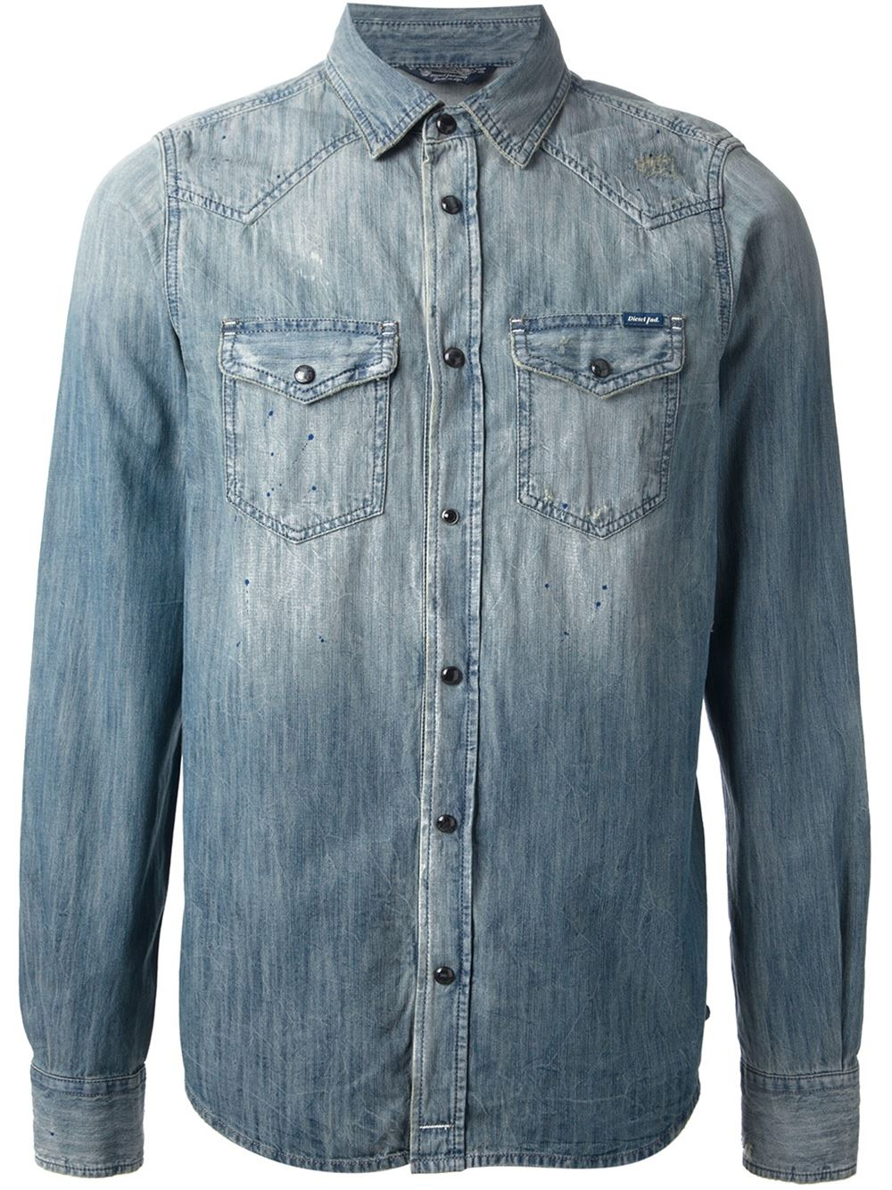 e73491a0e6c Lyst - DIESEL  newson  Denim Shirt in Blue for Men