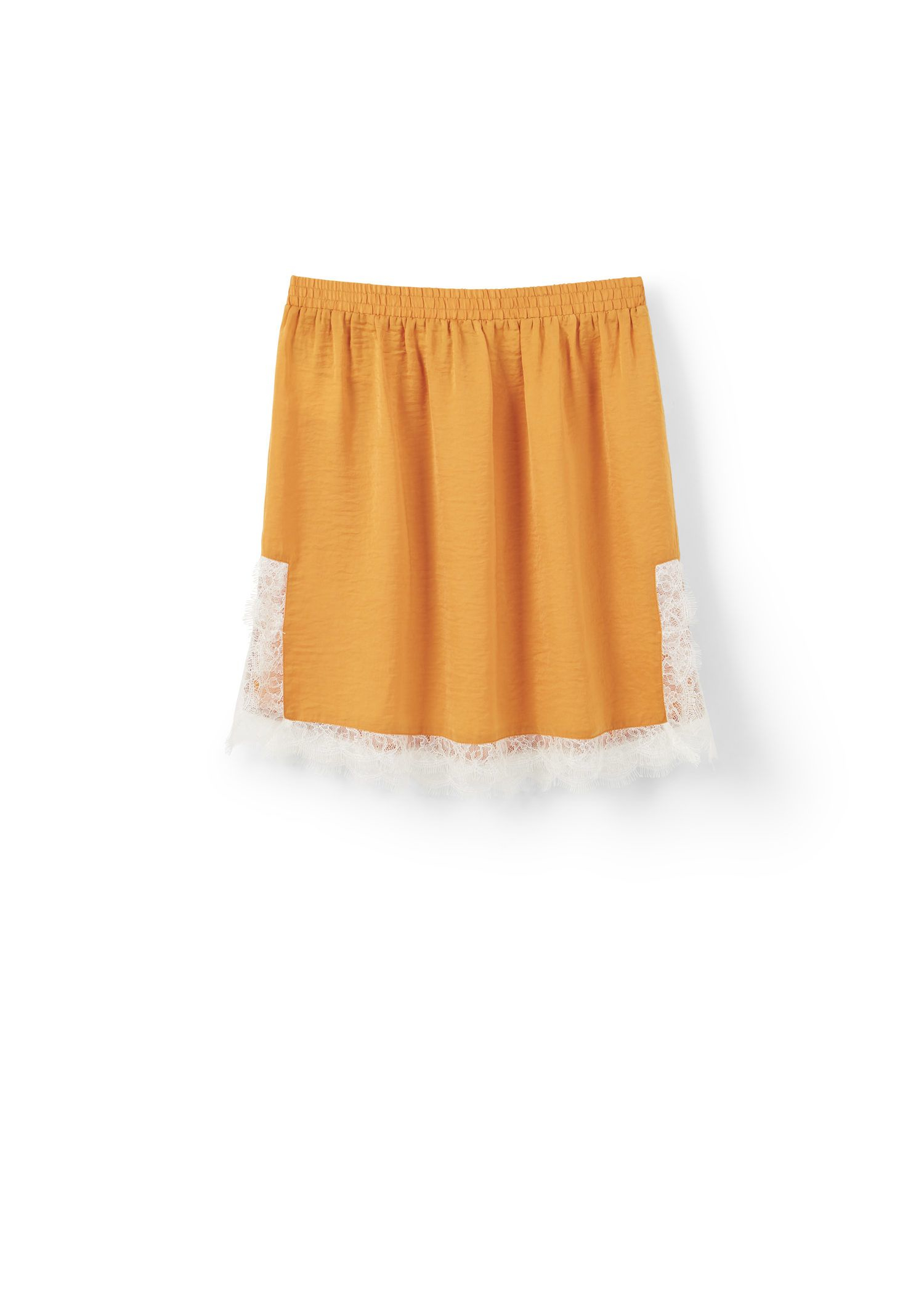 mango lace skirt in yellow lyst