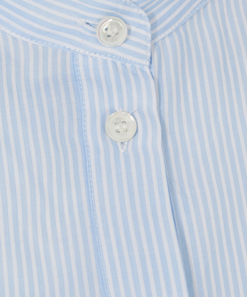 Acne Studios Light Blue Pinstripe Granded Collar Galvin