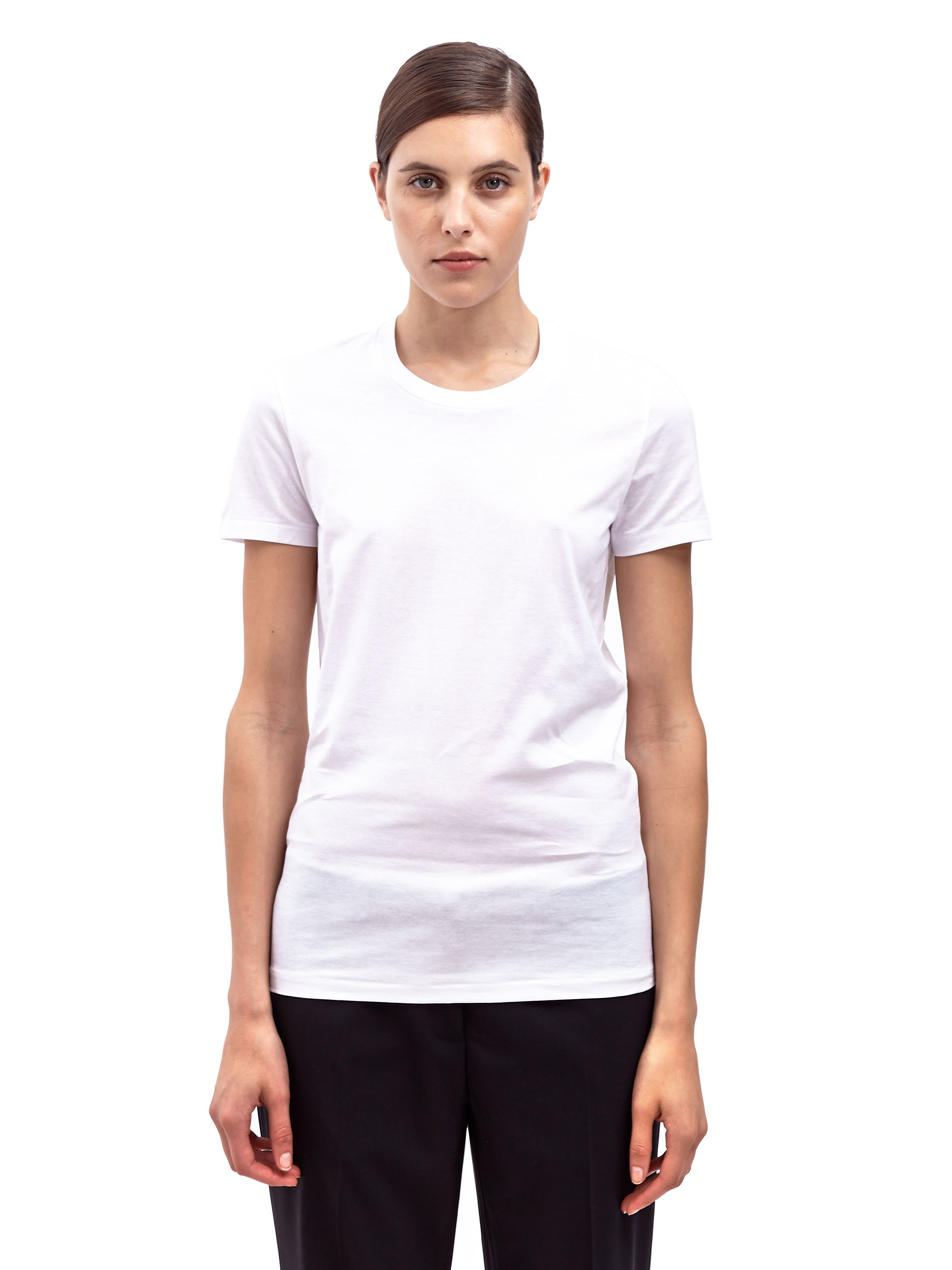 Lyst acne studios womens bliss classic crew neck t shirt for Crew neck white t shirt