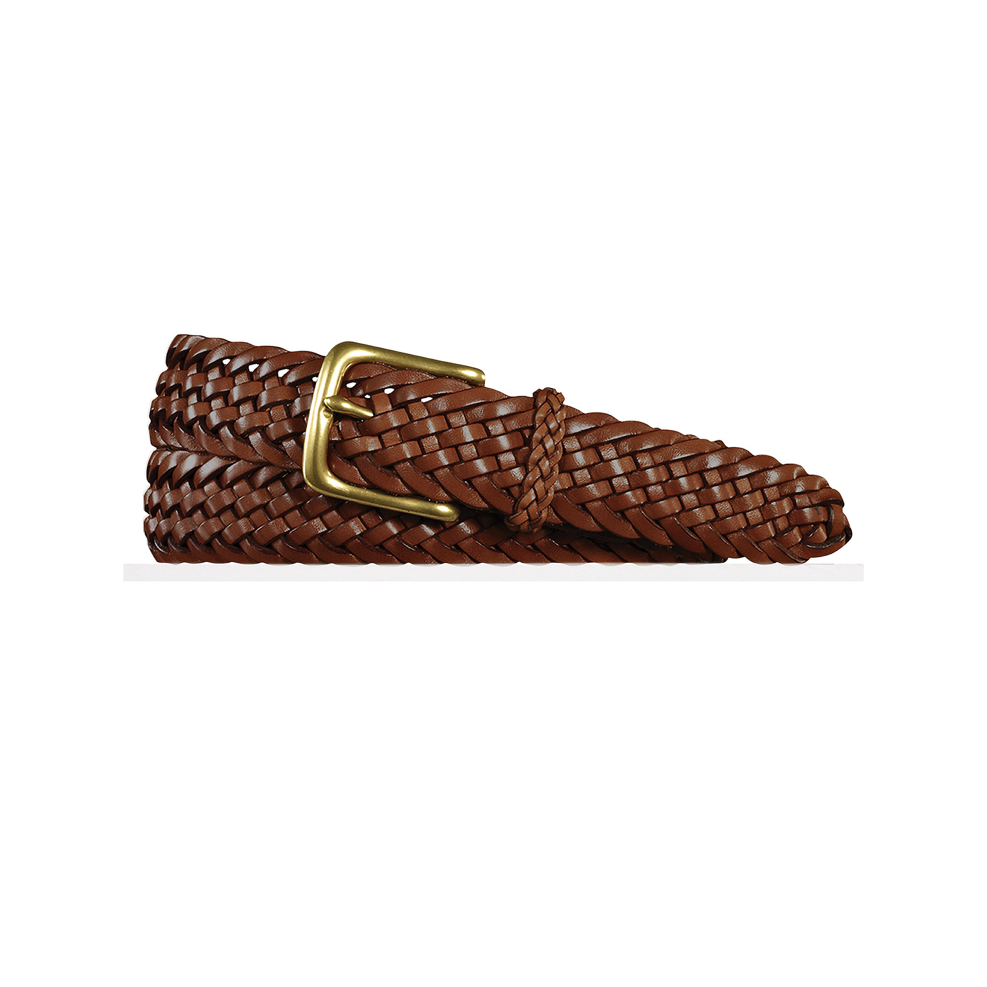 pink pony sportsman braided belt in brown for lyst