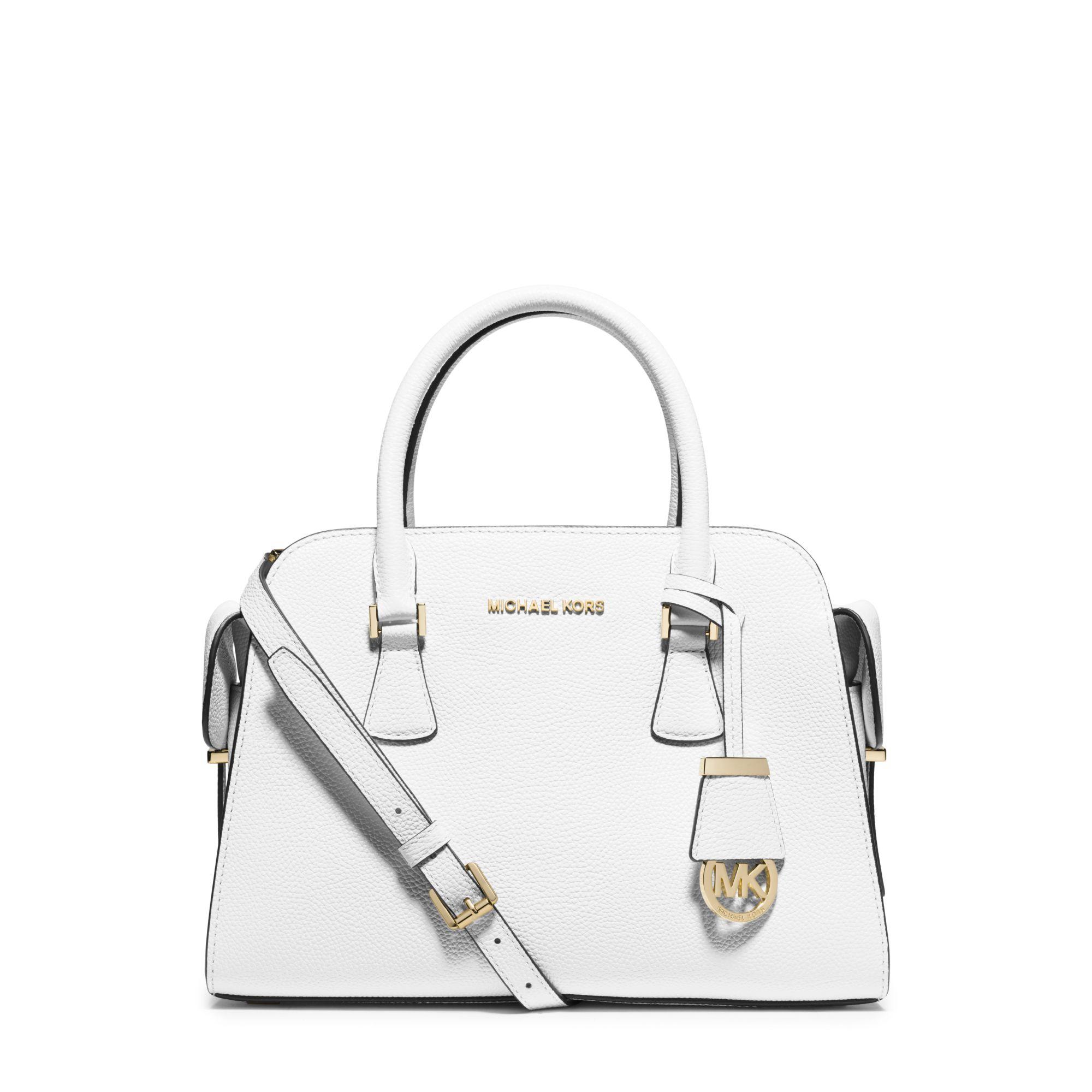 028924c2739d 6eda0 5f8ca; sale lyst michael kors harper medium leather satchel in white  9ecdc 3c715