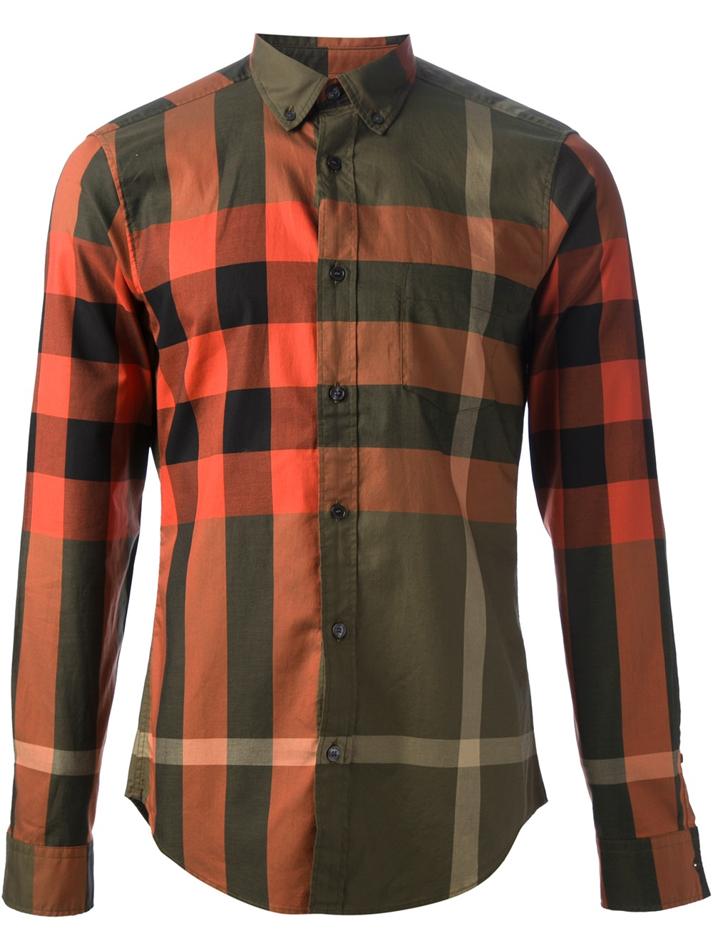 Lyst burberry brit checked shirt in green for men for Burberry brit checked shirt