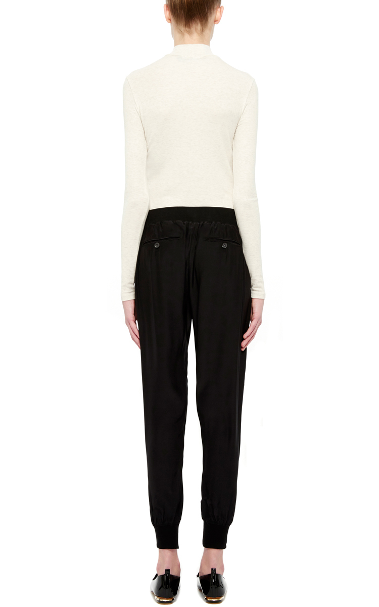 Lyst - Atm Black Silk Jogging Pants in Black