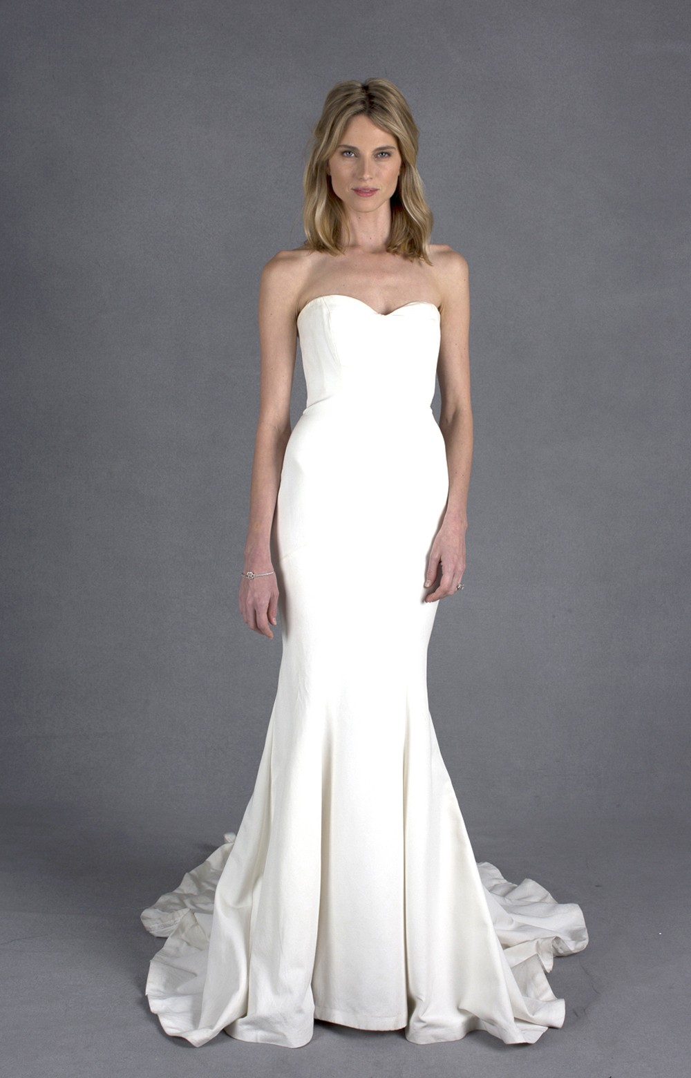 Nicole miller dakota bridal gown in white lyst for Nicole miller dresses wedding