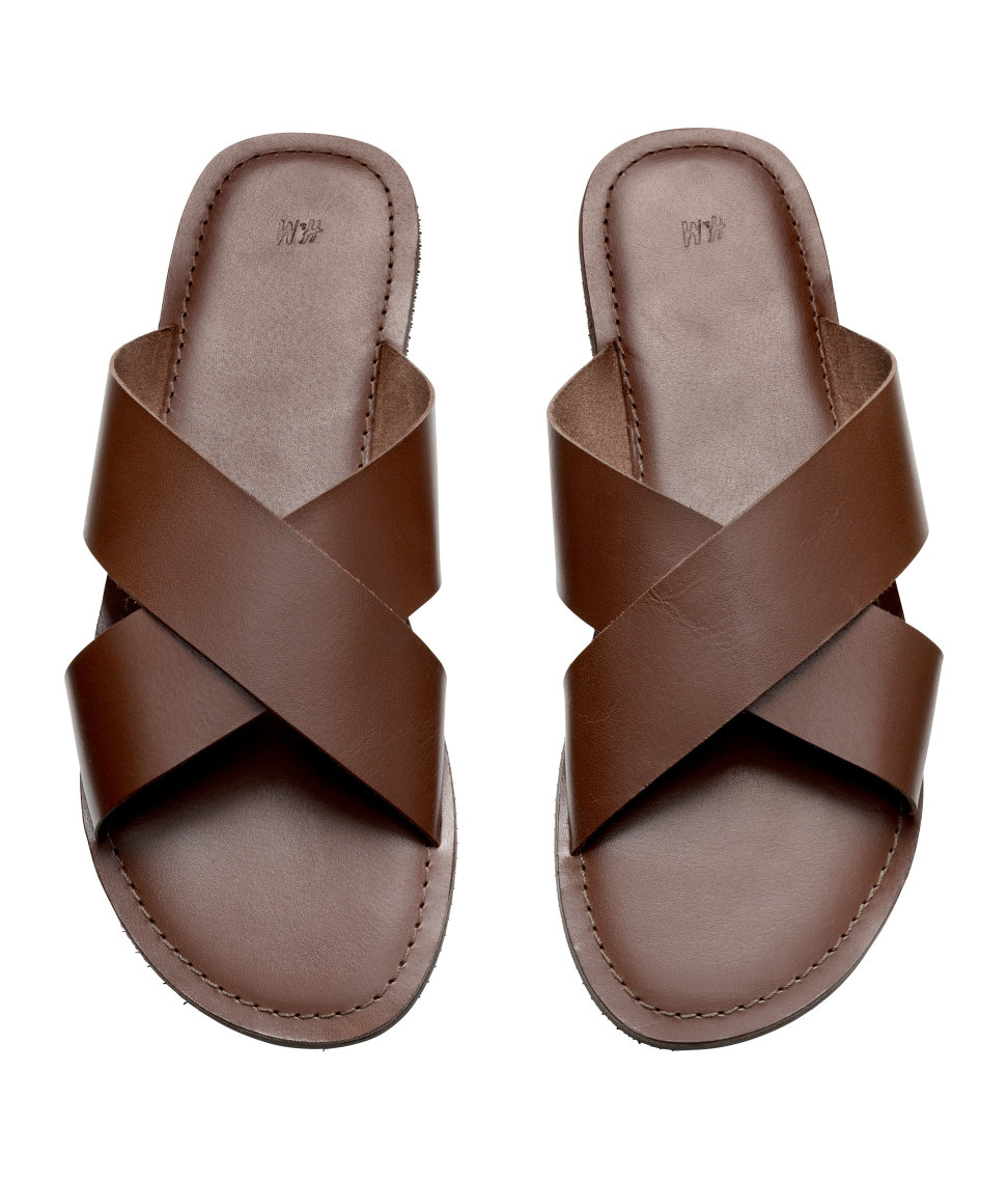 1b19c796d24d6 Lyst - H M Leather Sandals in Brown for Men